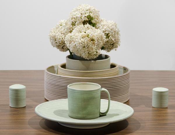 "Martin Table Setting  Cone 10 Reduction Porcelain  Mug 3.75"" W x 4"" H  2016"