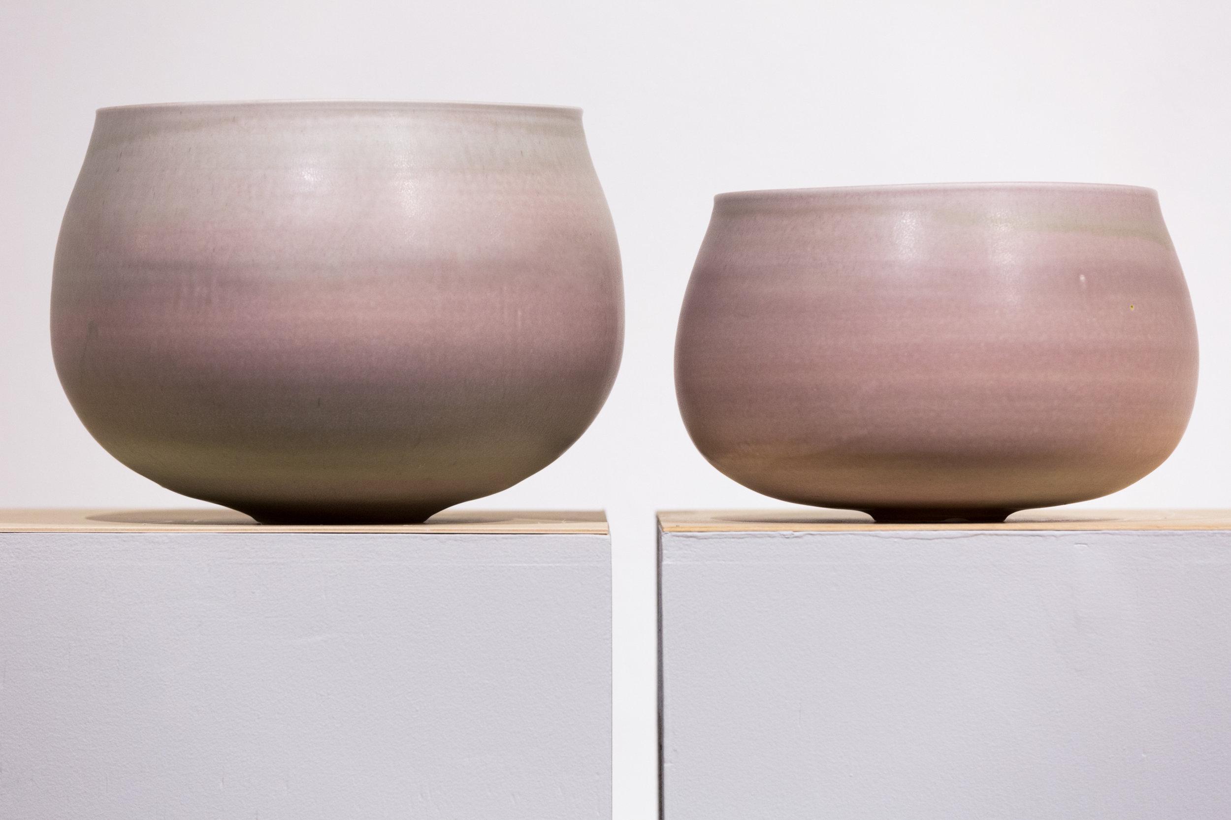 """A.M.Bowls  Cone 10 Reduction Porcelain  18"""" W x 15"""" H  2016"""