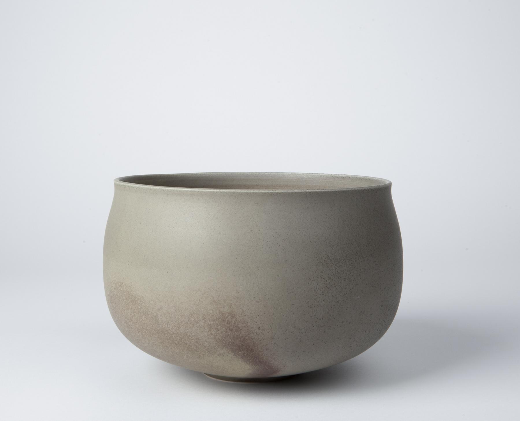 large fog bowl, cone 9 reduction porcelain