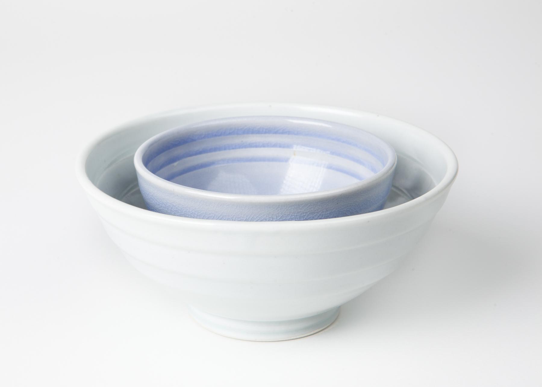 vernon bowls, cone 9 reduction porcelain