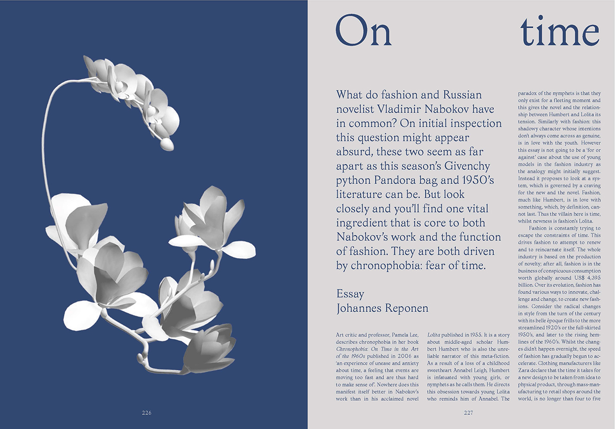 'On time, in fashion' essay published in SSAW issue 1