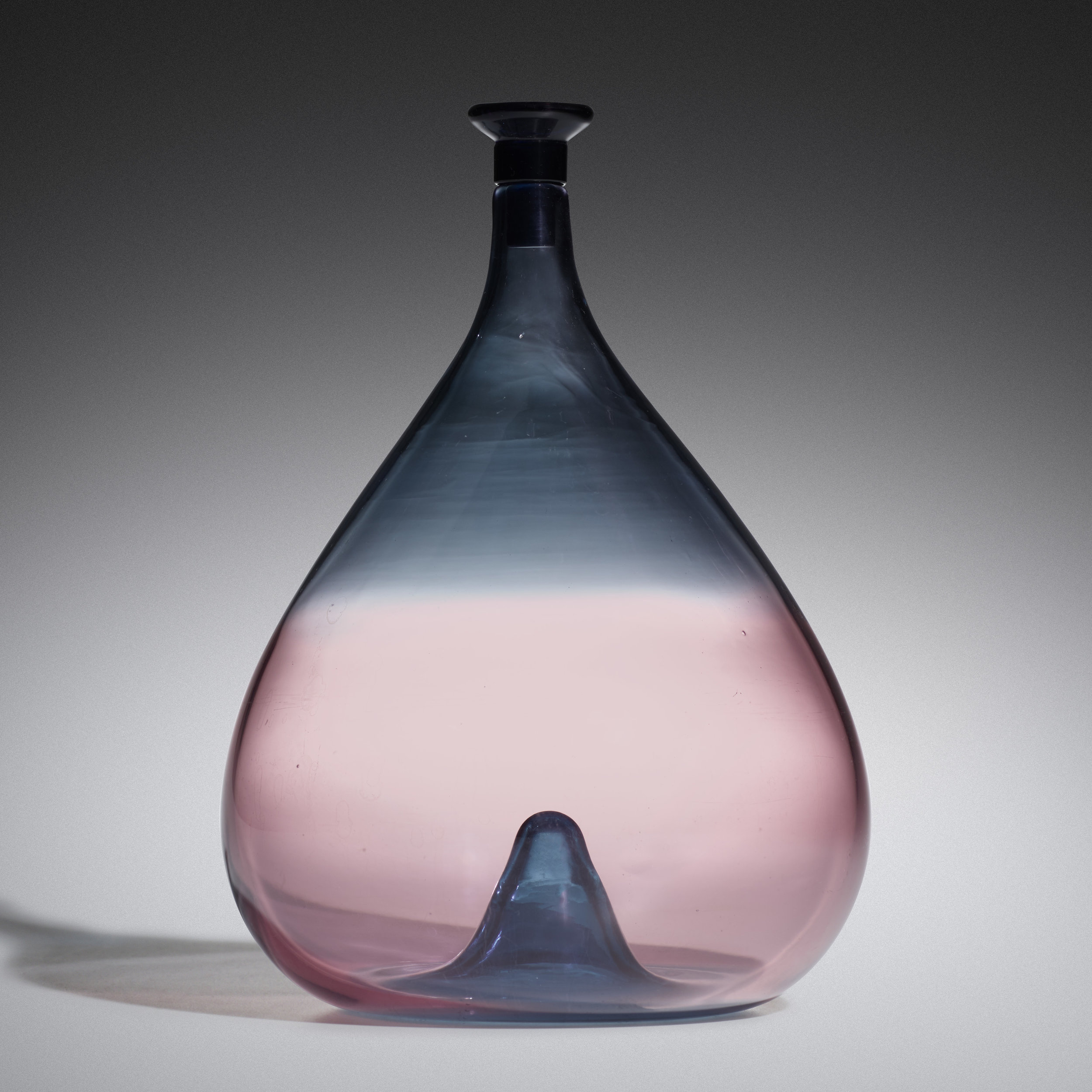 Crepuscolo vase with stopper [c. 1965] by Toni Zuccheri. estimate: $5,000–7,000