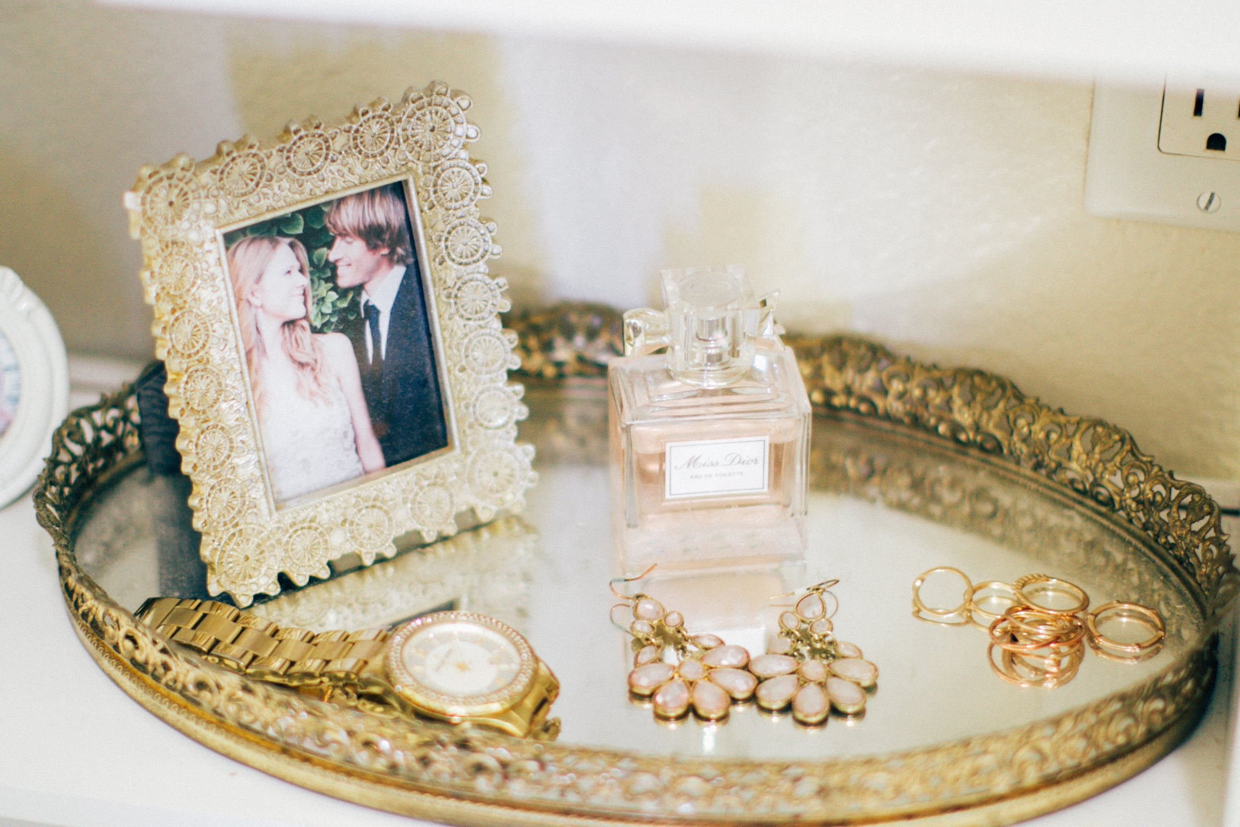 my wedding perfume + a few other favorite treasures.