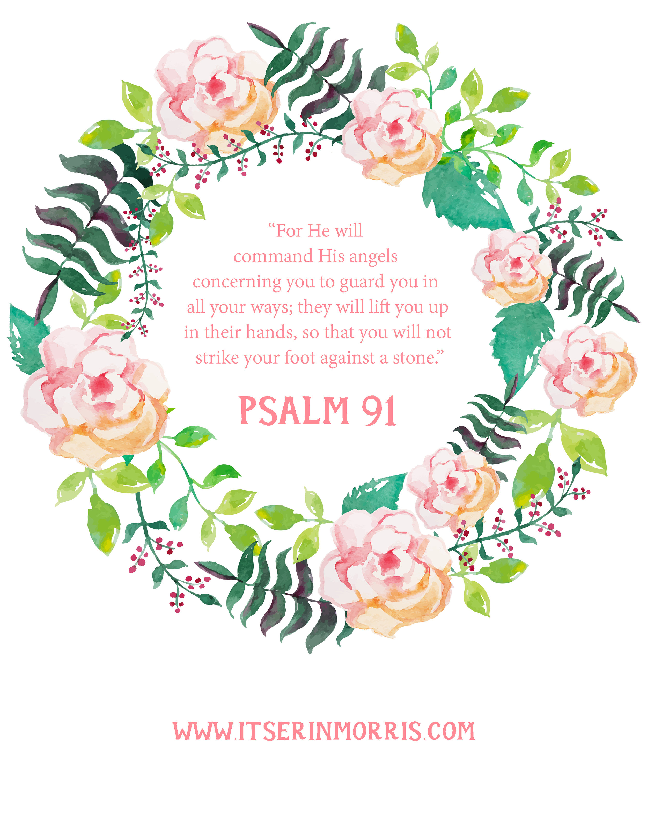 graphic regarding Psalm 91 Printable titled Cost-free Printable Psalm 91 erin morris