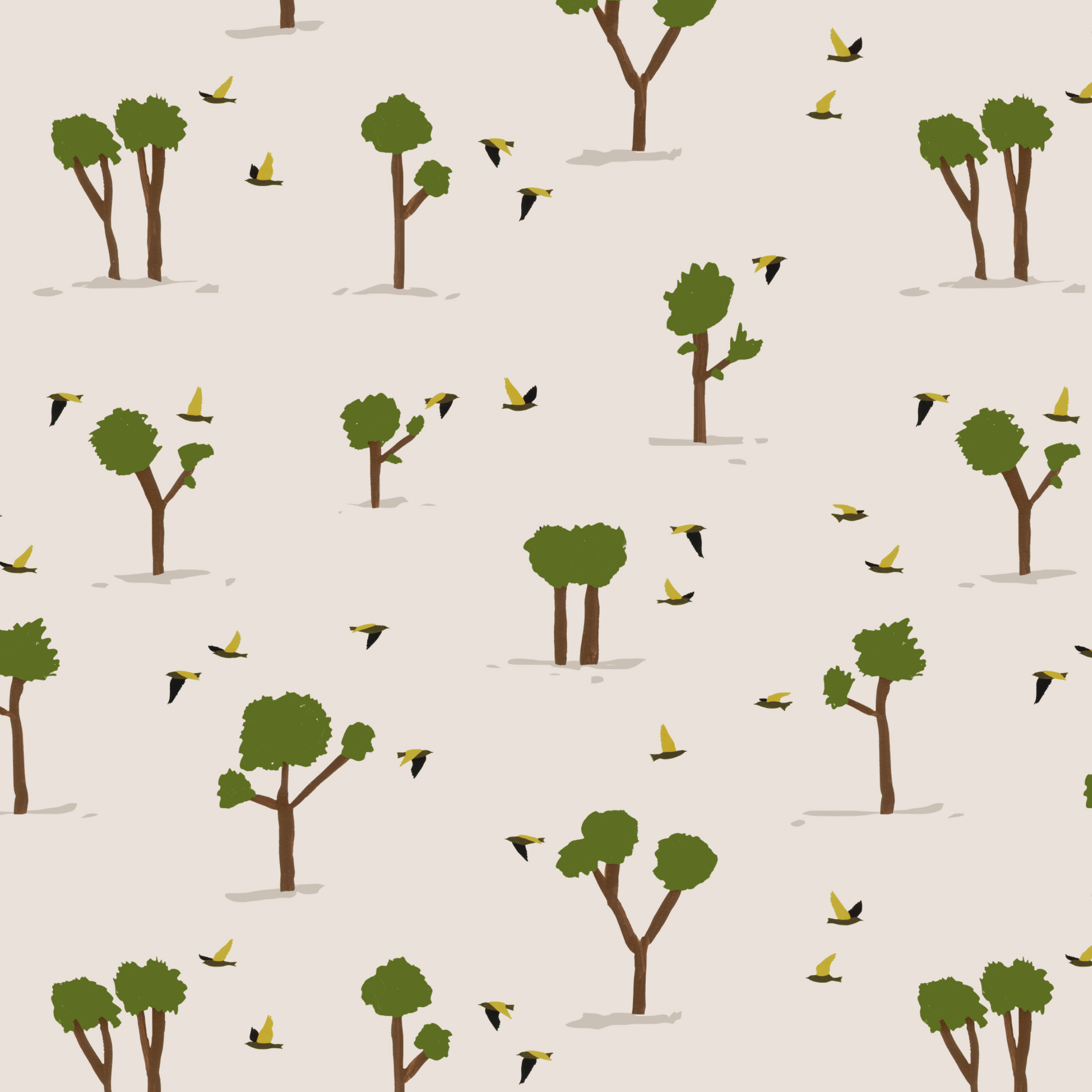 scattered forest pattern