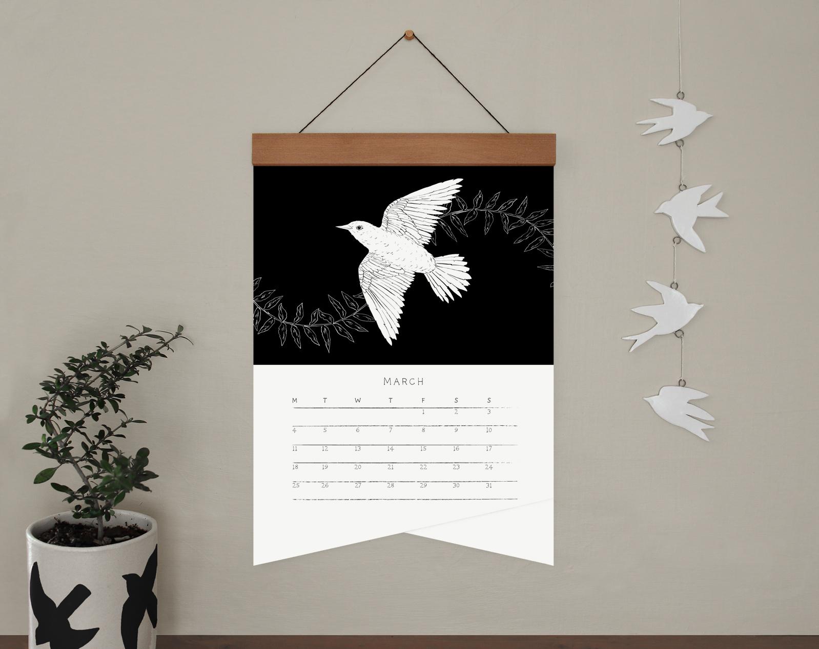melissa boardman A3 bw calendar wood hanger 04.jpg