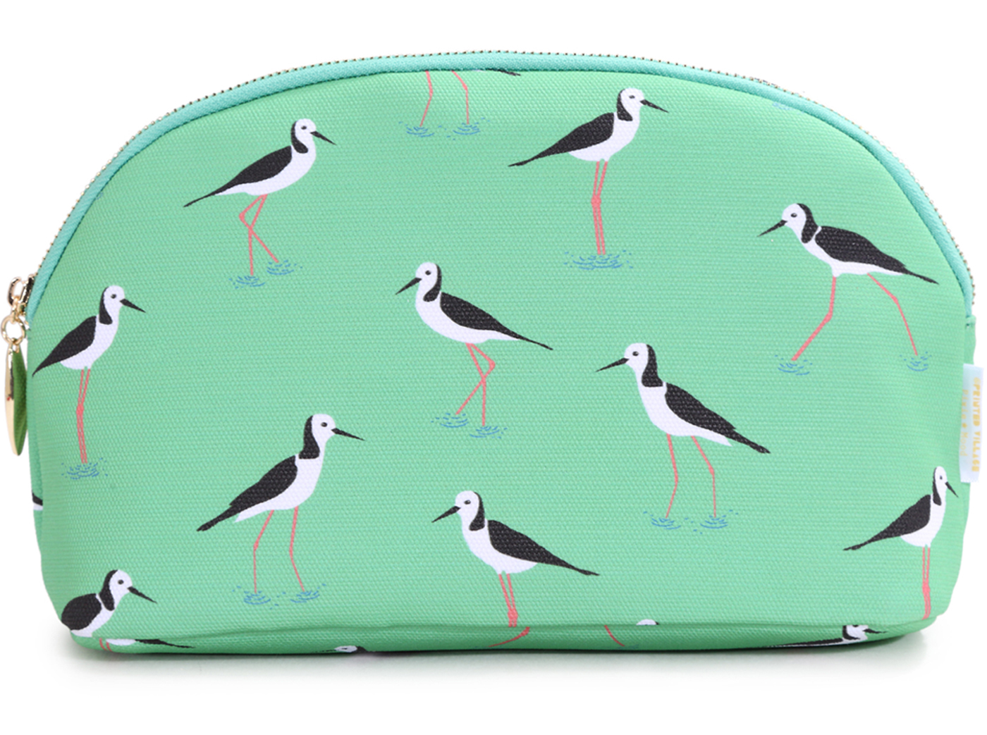 melissa boardman wading birds cosmetic bag
