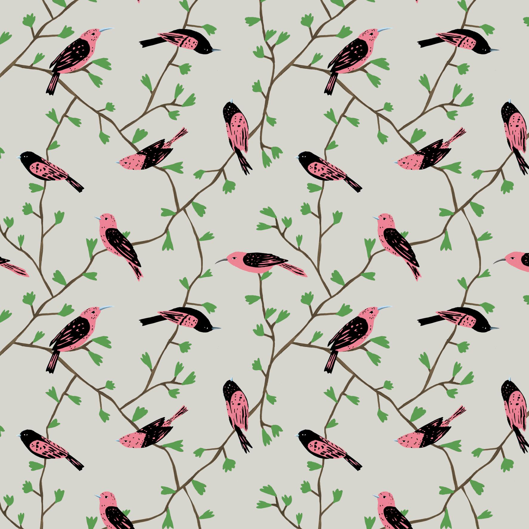 melissa boardman pink birds in vines pattern.png
