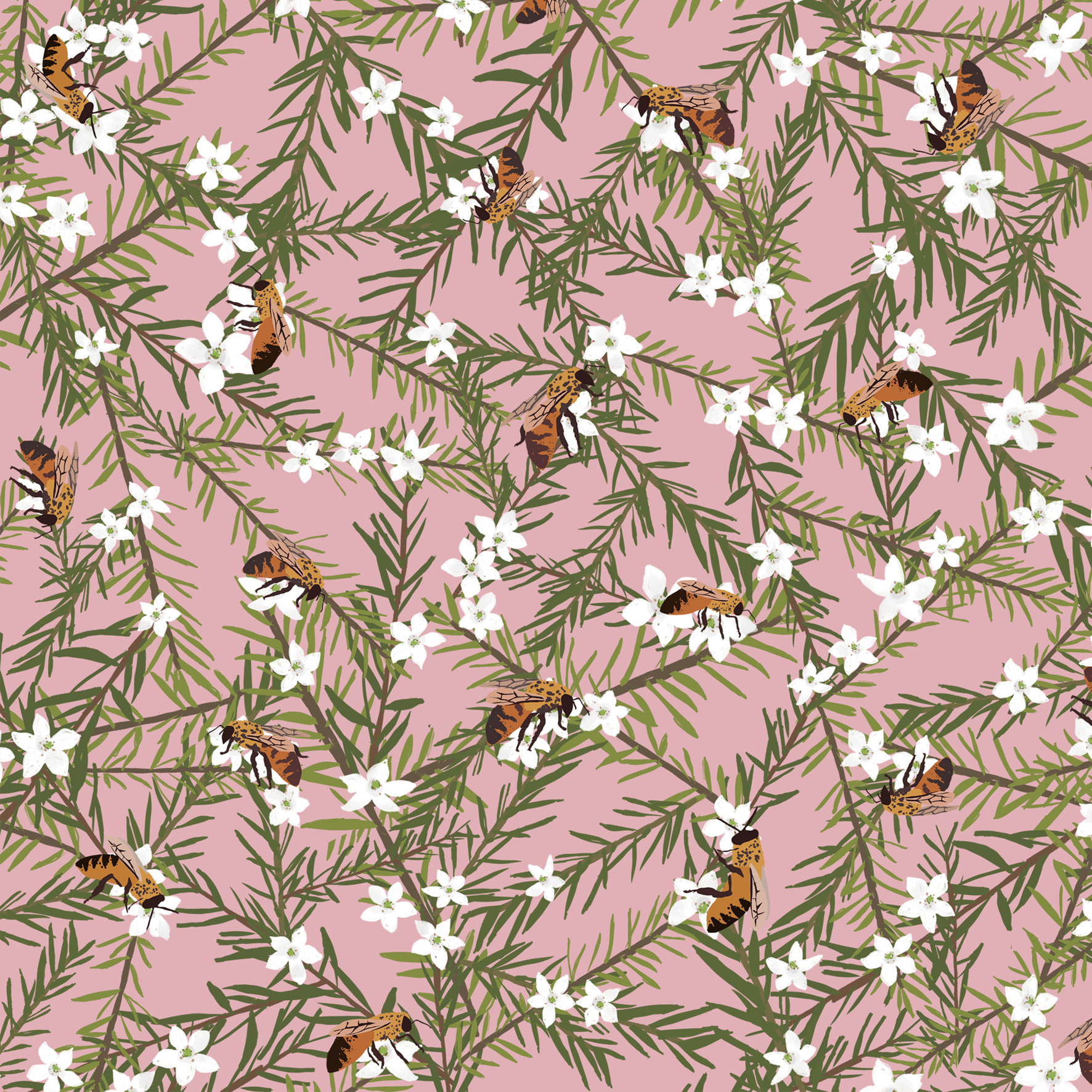 melissa boardman manuka and bees pattern pink.png