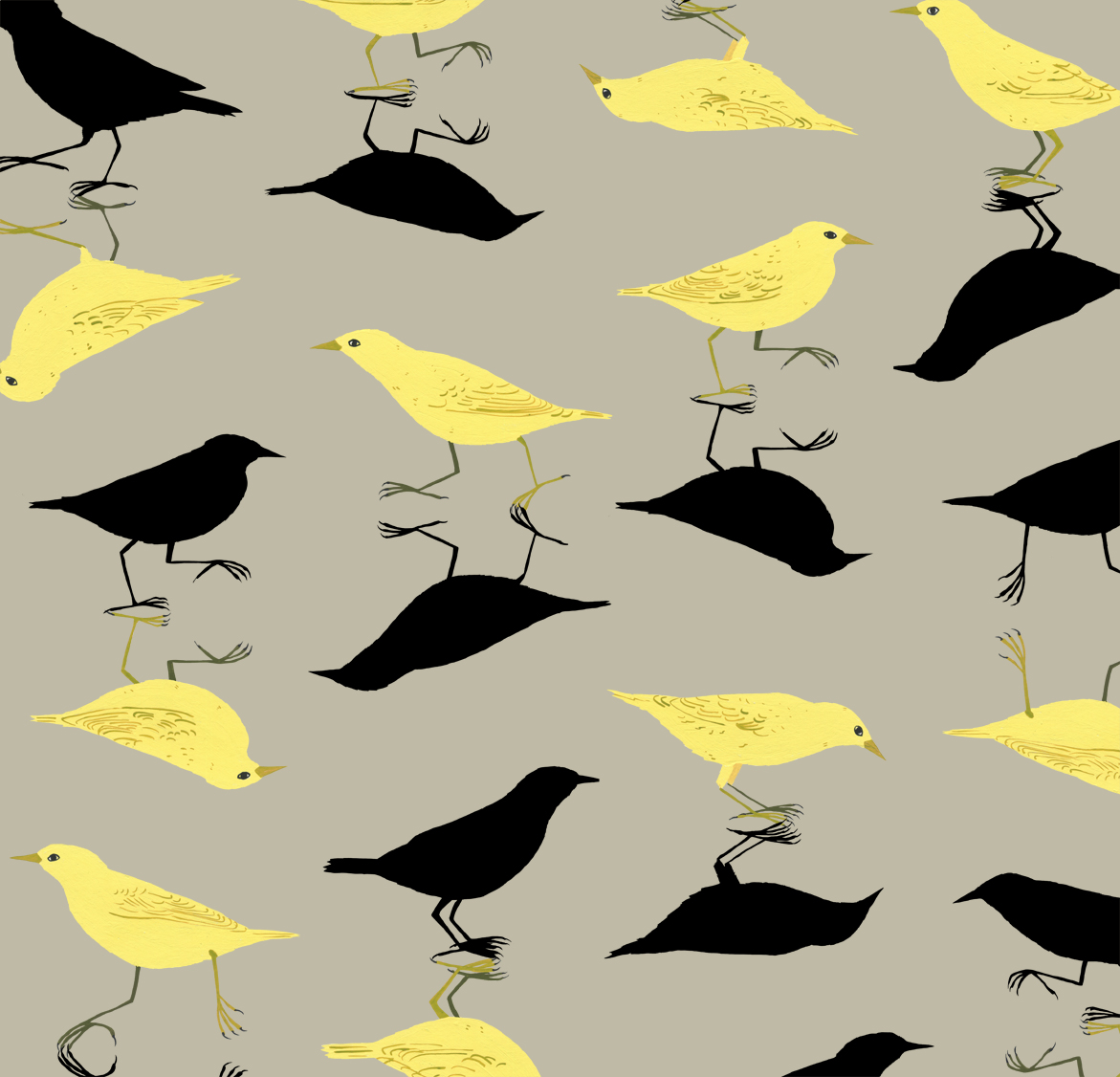 melissa boardman yellow birds shadow pattern.jpg