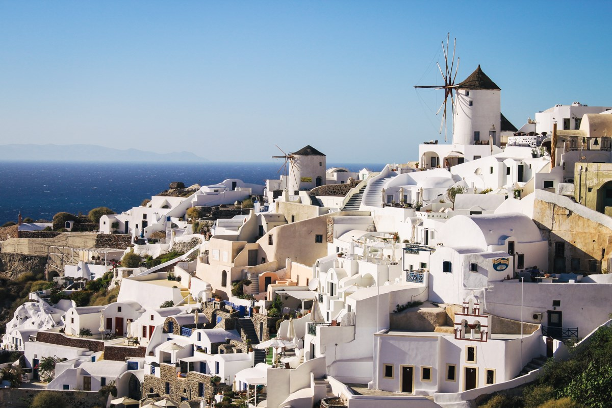 Santorini Greece. - Where in the world for you best represent the most relaxing summer vacay?