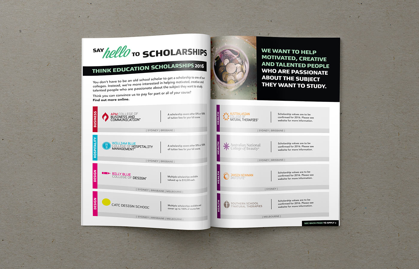 Think-Education-Design-Finished-Art-Brochure-Scholarships-Spread