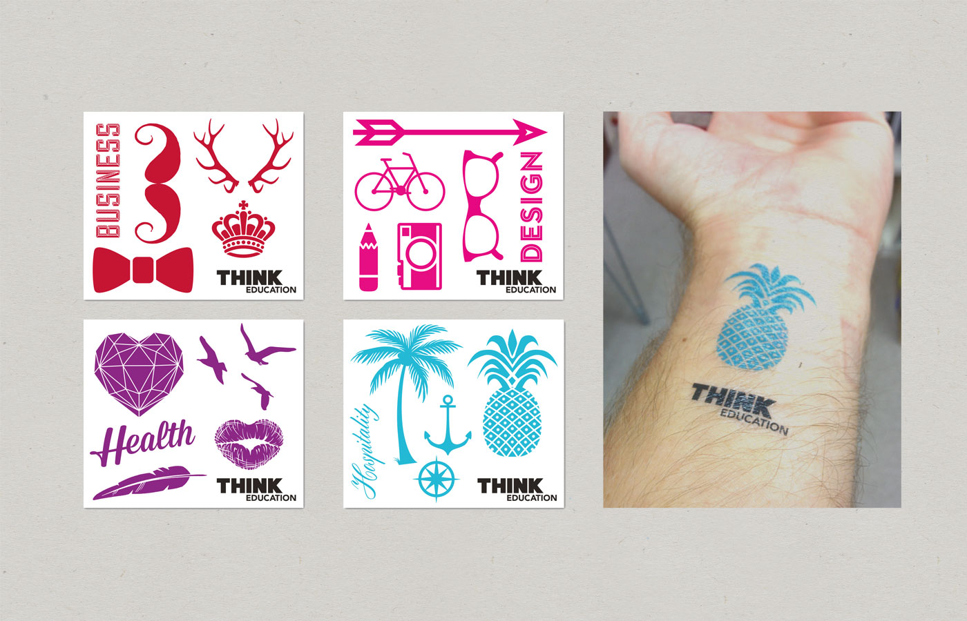 Think-Education-Design-Expo-Merchandise-tattoos