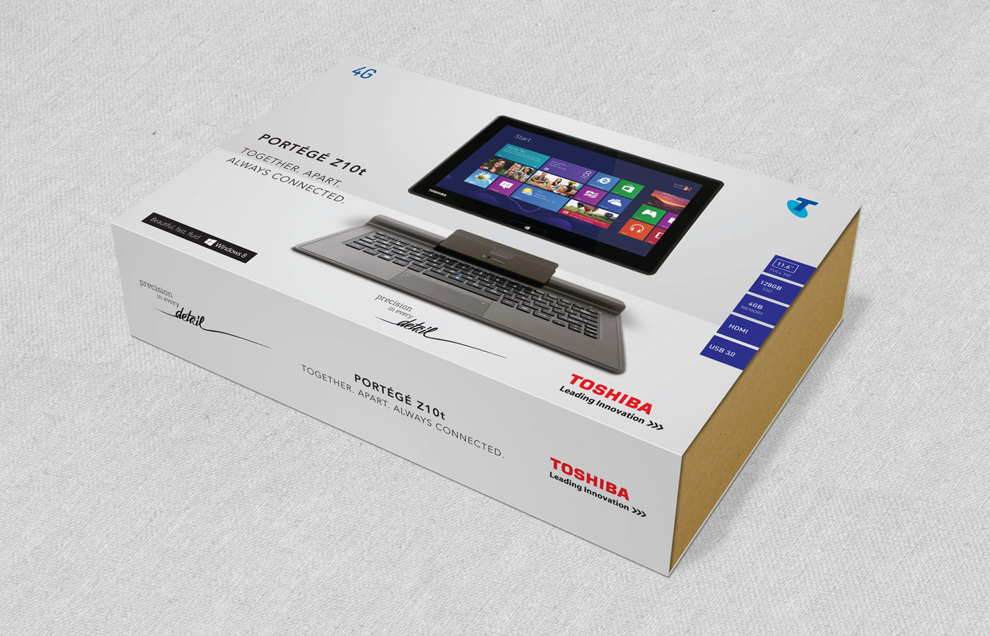 Toshiba packaging Z20t notebook tablet testra