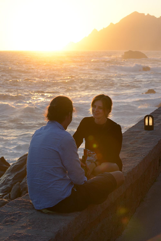 Auringonlasku, matka, matkablogi, Korsika, Ranska, parisuhde