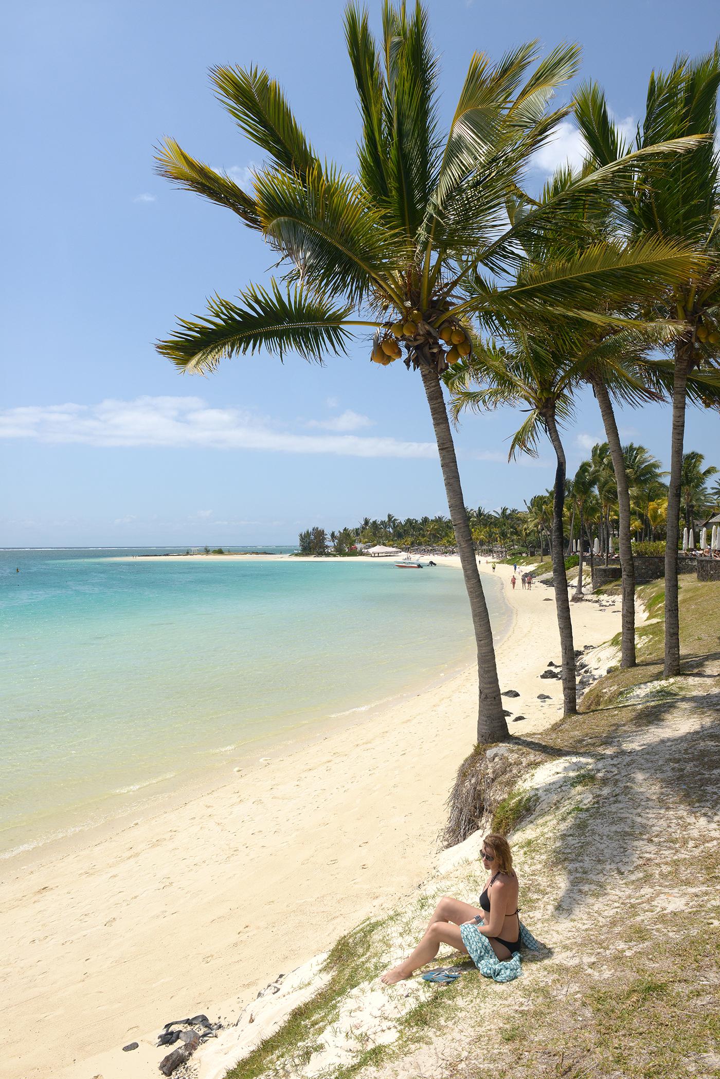 Mauritius, ranta, hiekka, palmu, matkailu, matka, matkablogi
