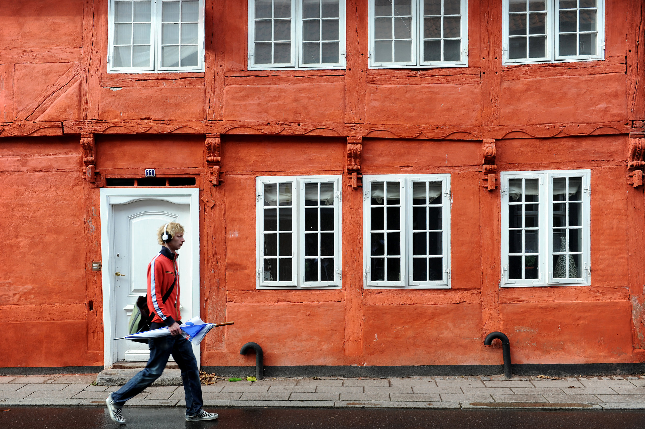 Helsingör, Tanska, talo, värikäs, kaunis, punainen