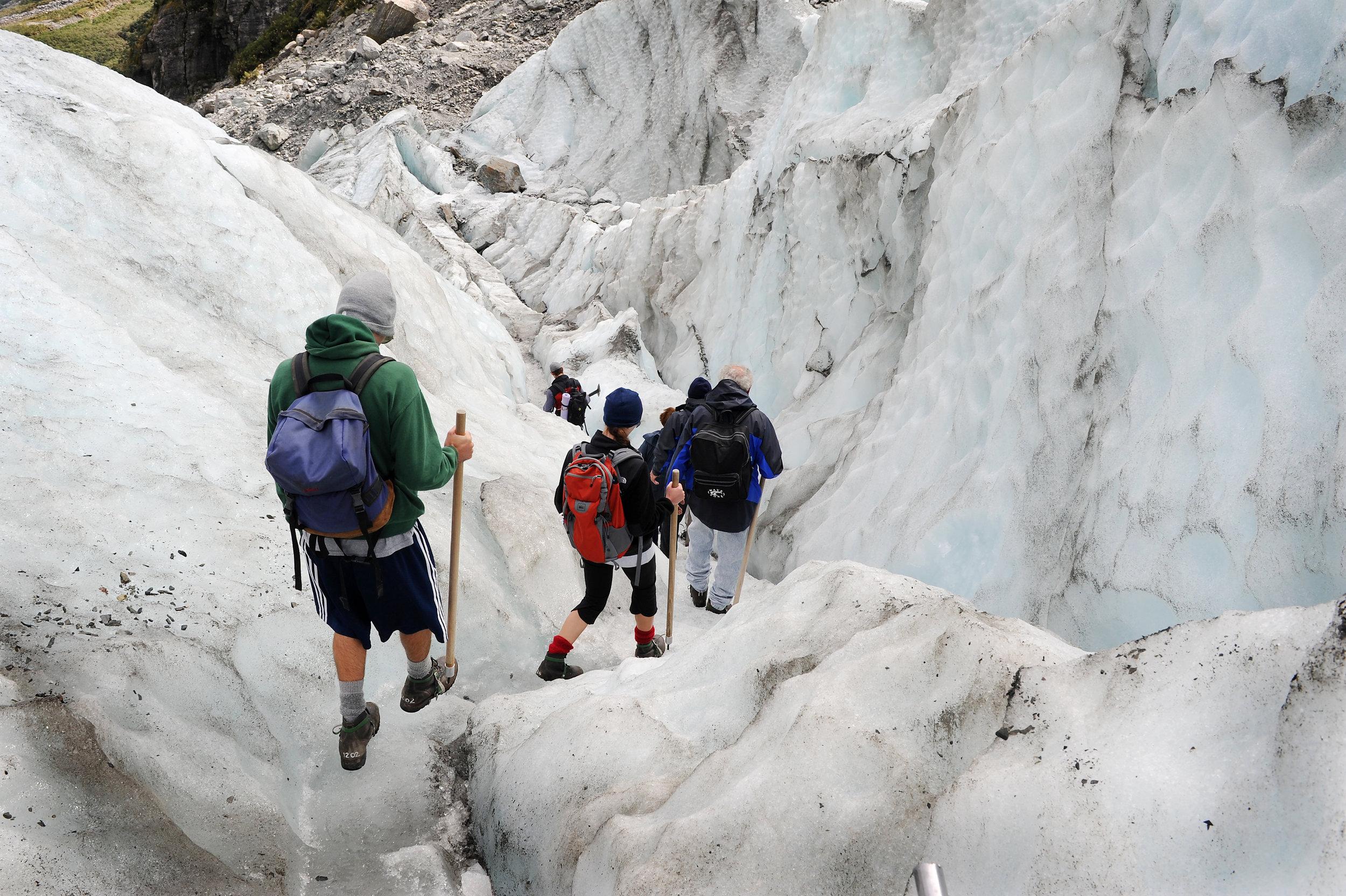 Uusi-Seelanti, Fox, jäätikkö, kävely