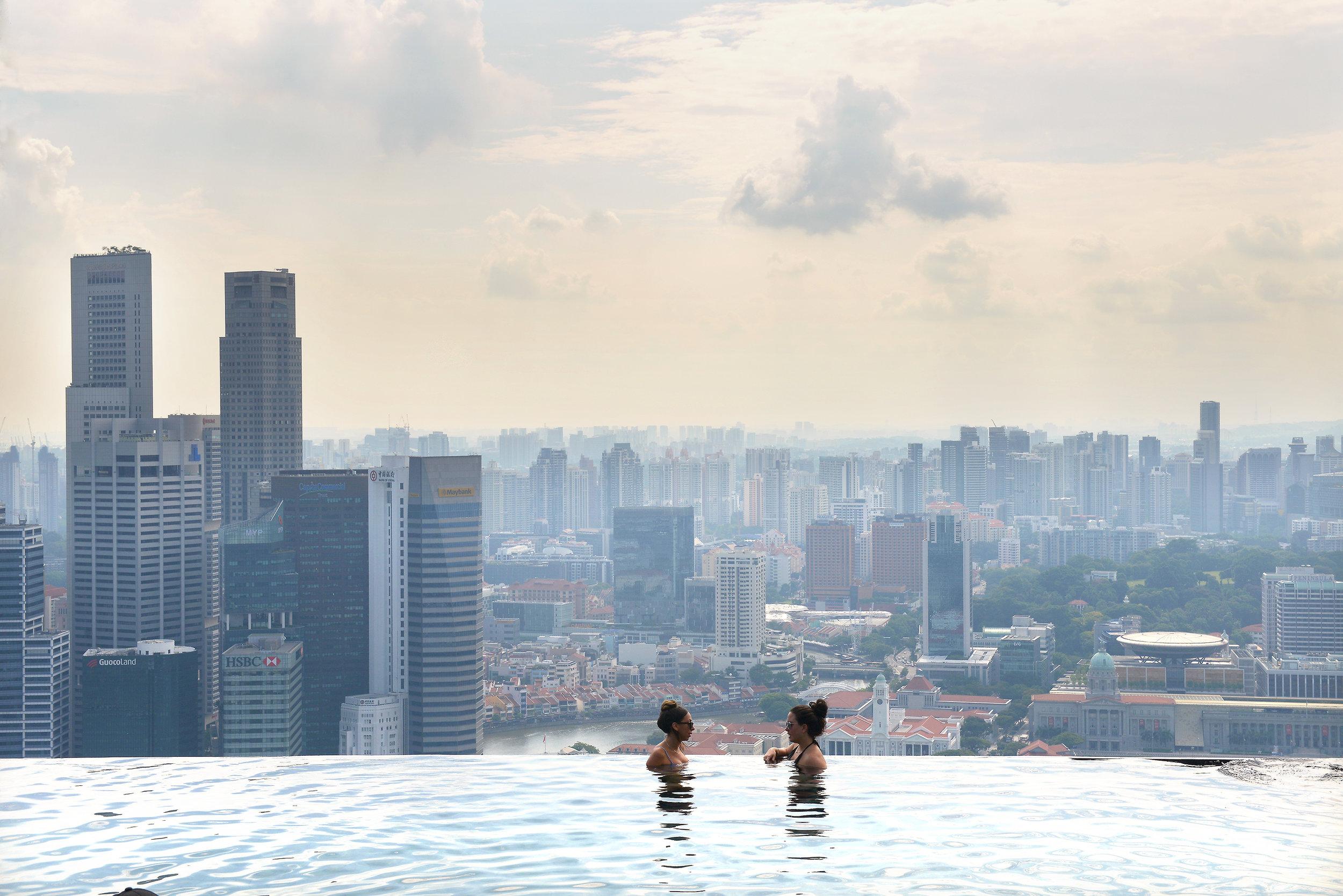 Singapore, uima-allas, kaupunkiloma, matka