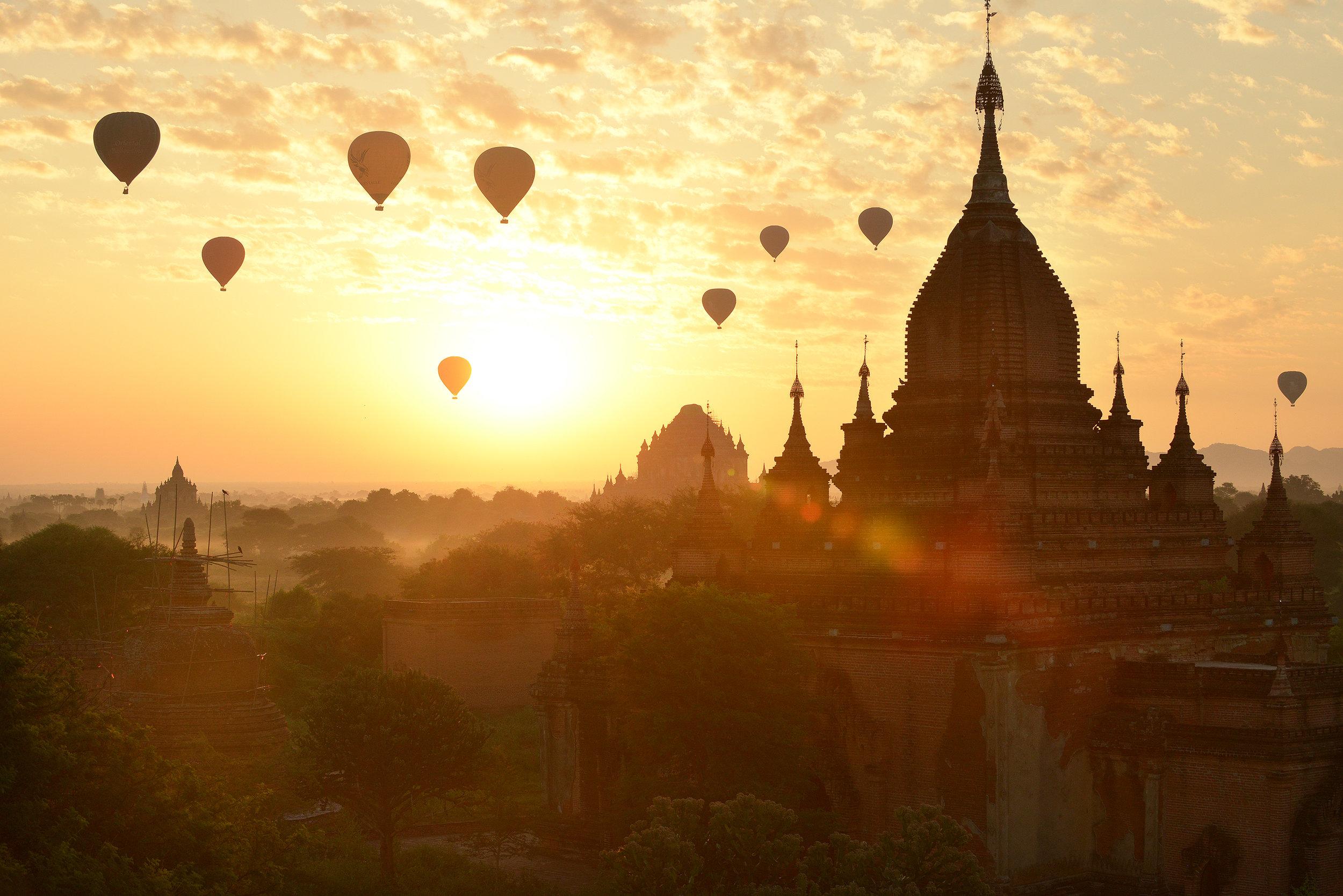 Auringonlasku, Bagan, Myanmar, Burma