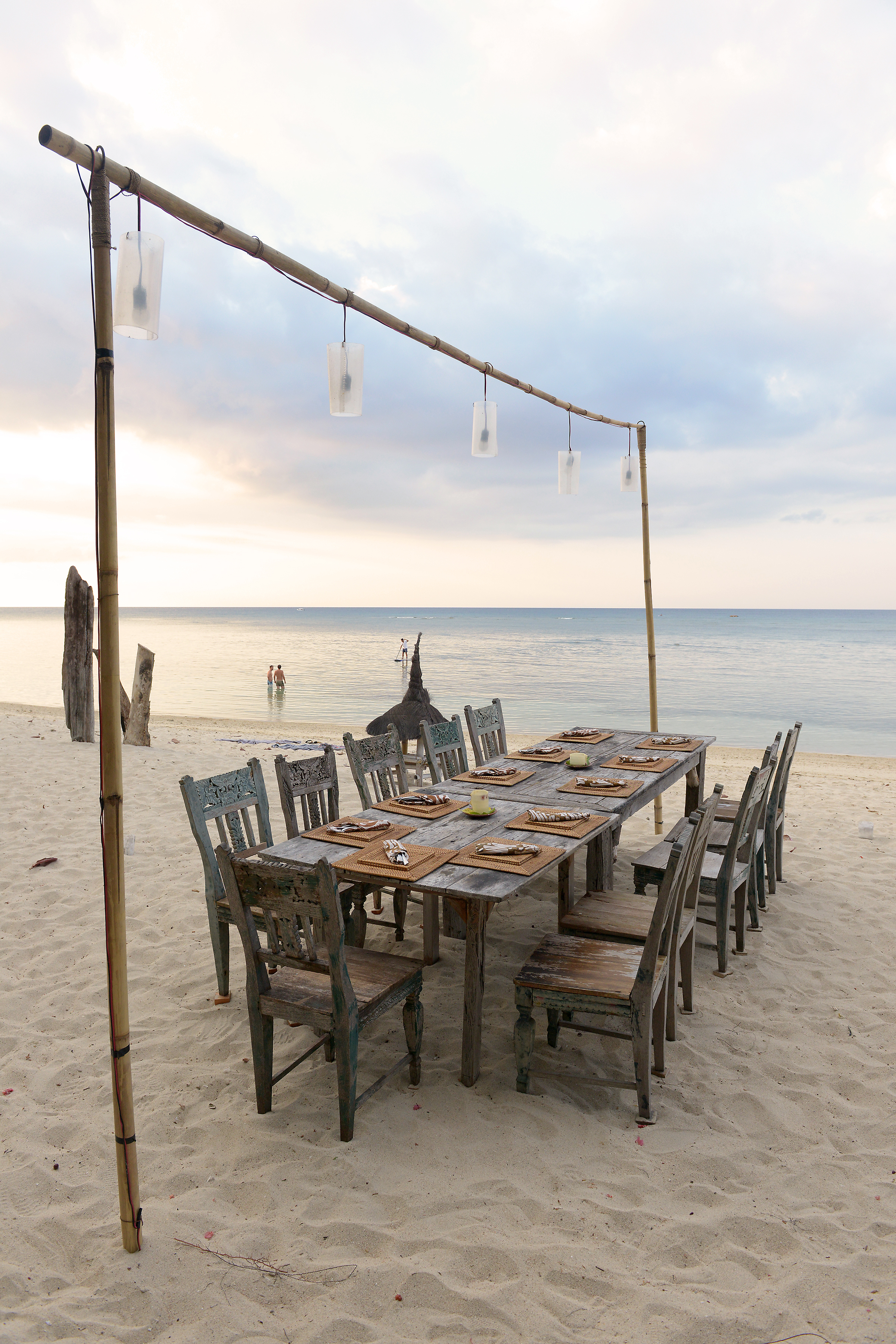 Ranta, ravintola, meri, Indonesia, Lombok