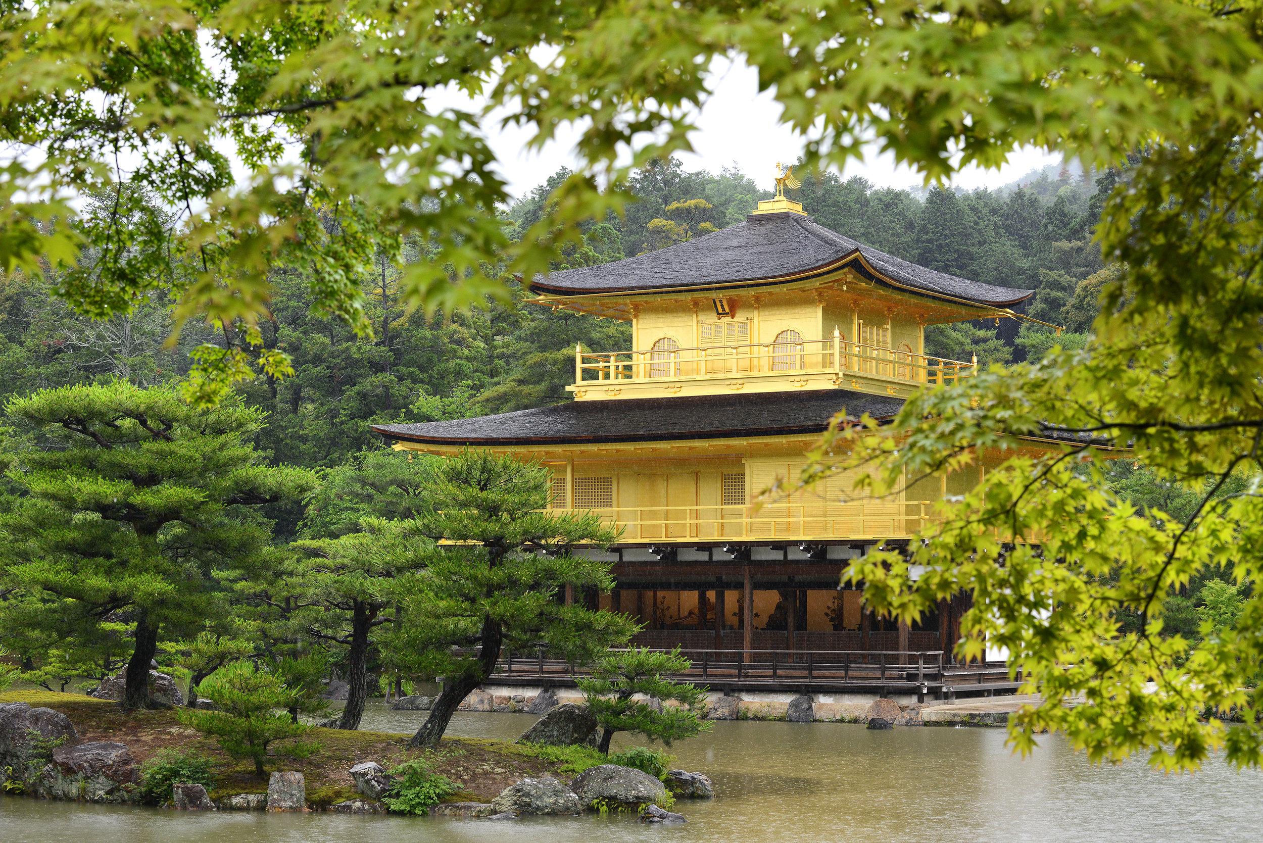 Kinkaku-ji, kultainen temppeli, Kioto