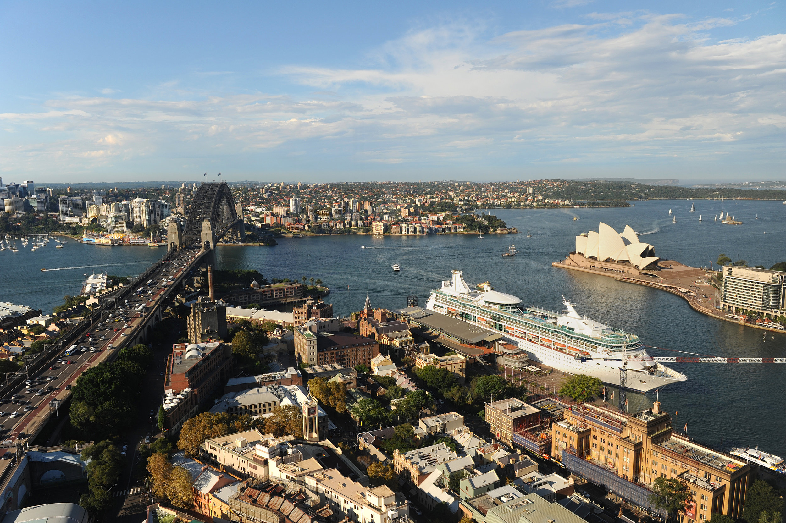 Australia, Sydney, The Rocks, Harbour Bridge