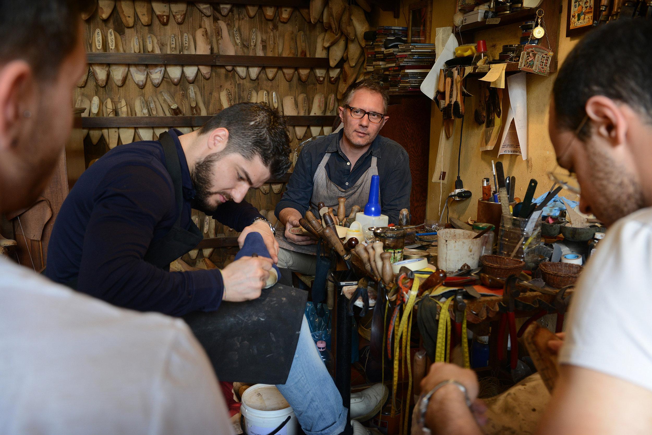 Italia, Firenze, Toscana, kenkäkauppa, Roberto Ugolini