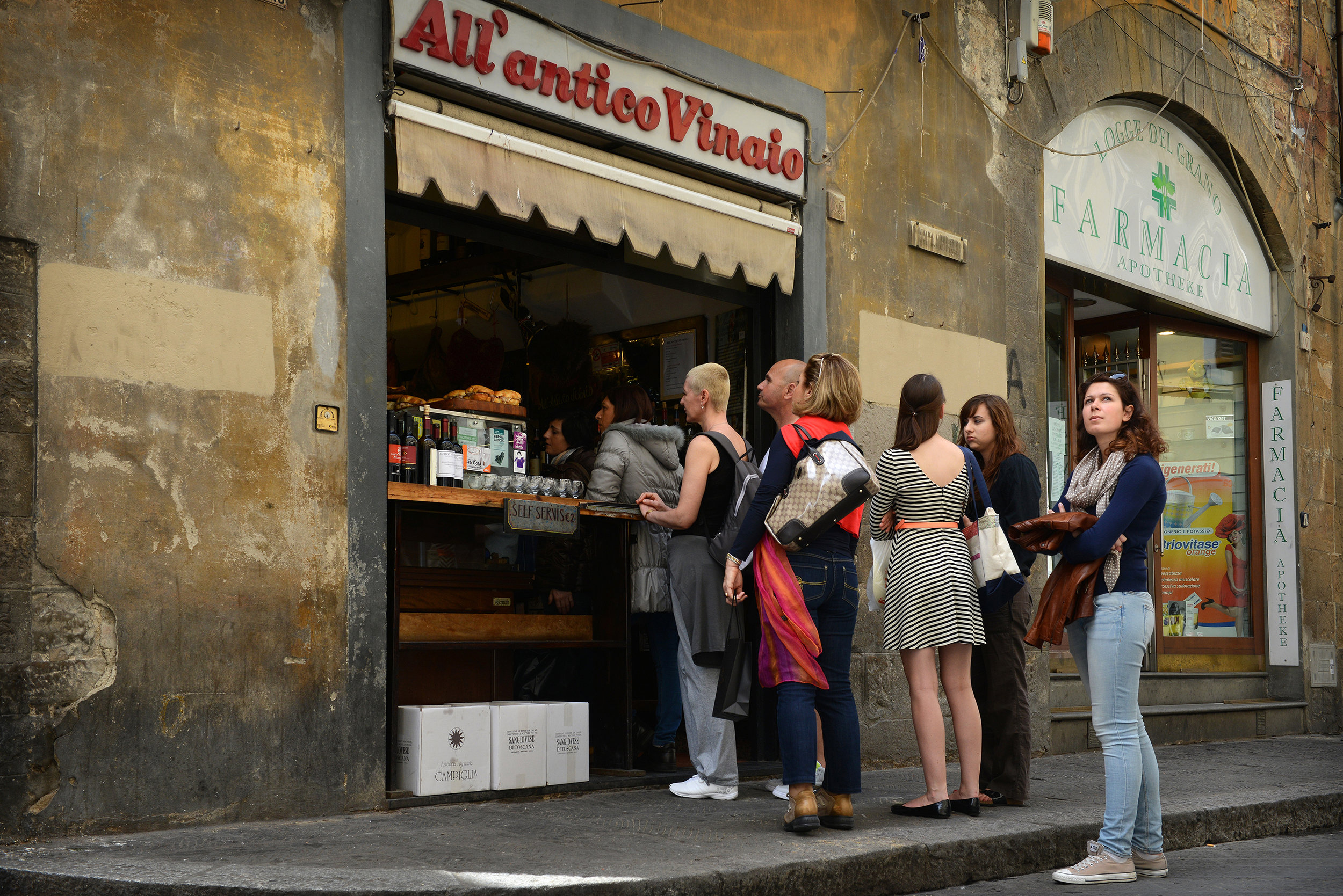 Italia, Firenze, Toscana, viinibaari