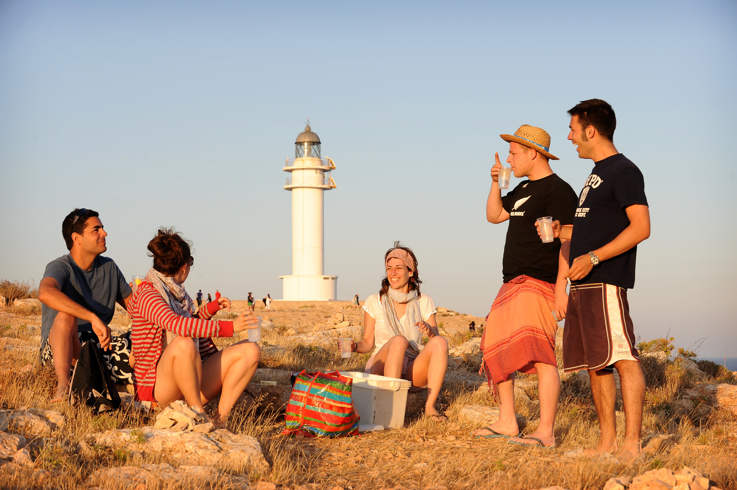 Formentera, majakka, auringonlasku