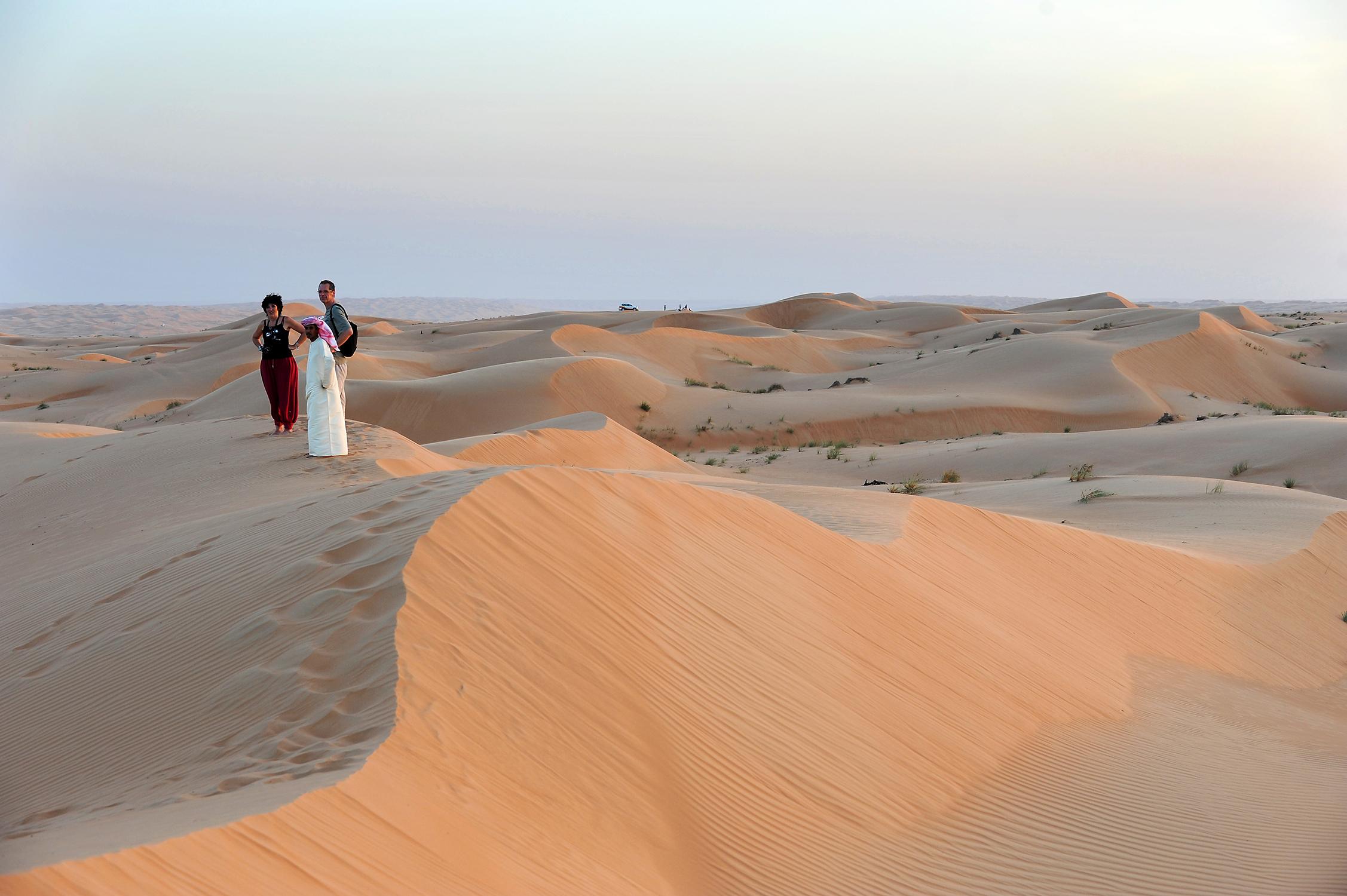 Oman, Wahiba Sands, hiekka-aavikko, autiomaa