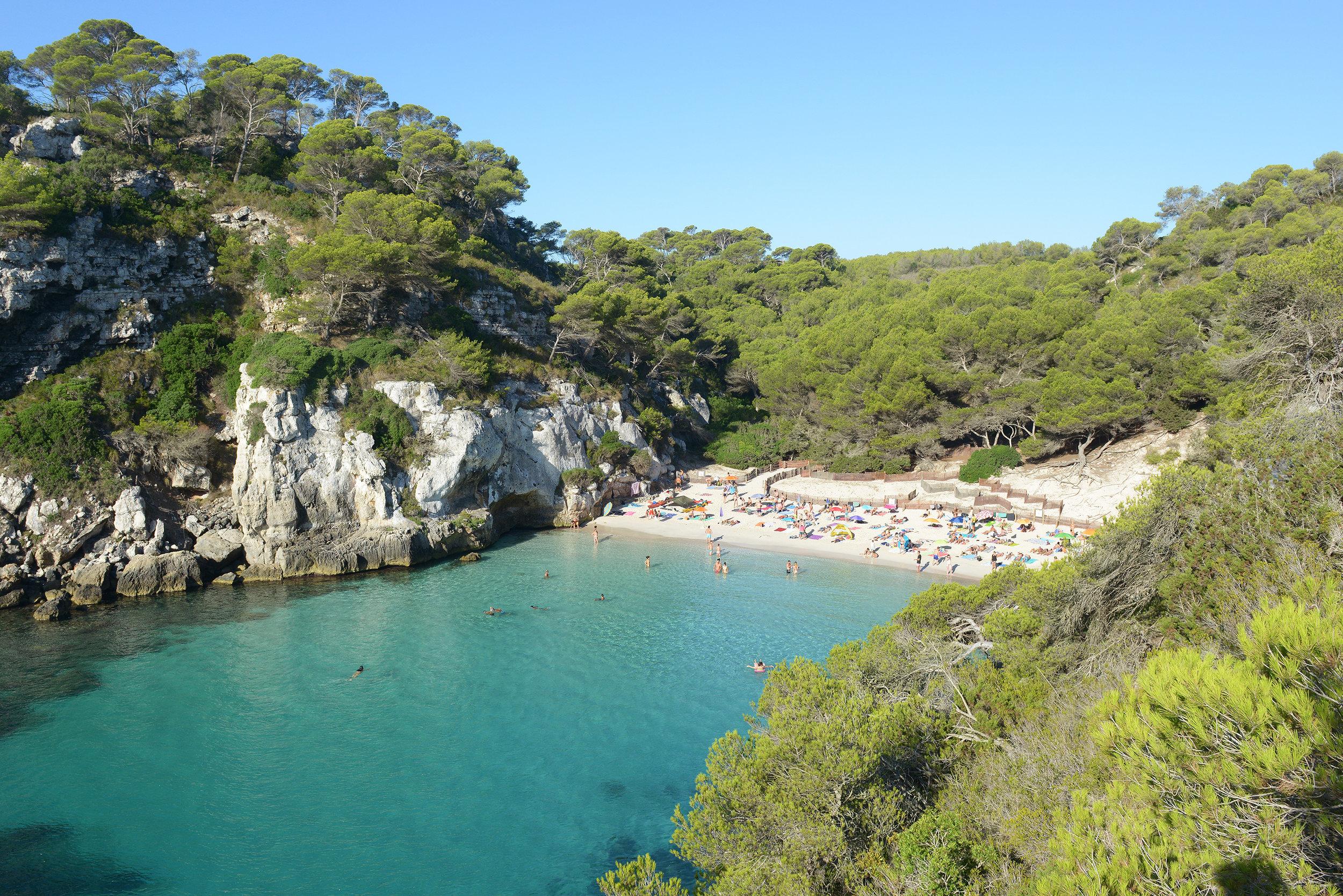 Menorca, Espanja, Baleaarit, Macarelleta, ranta