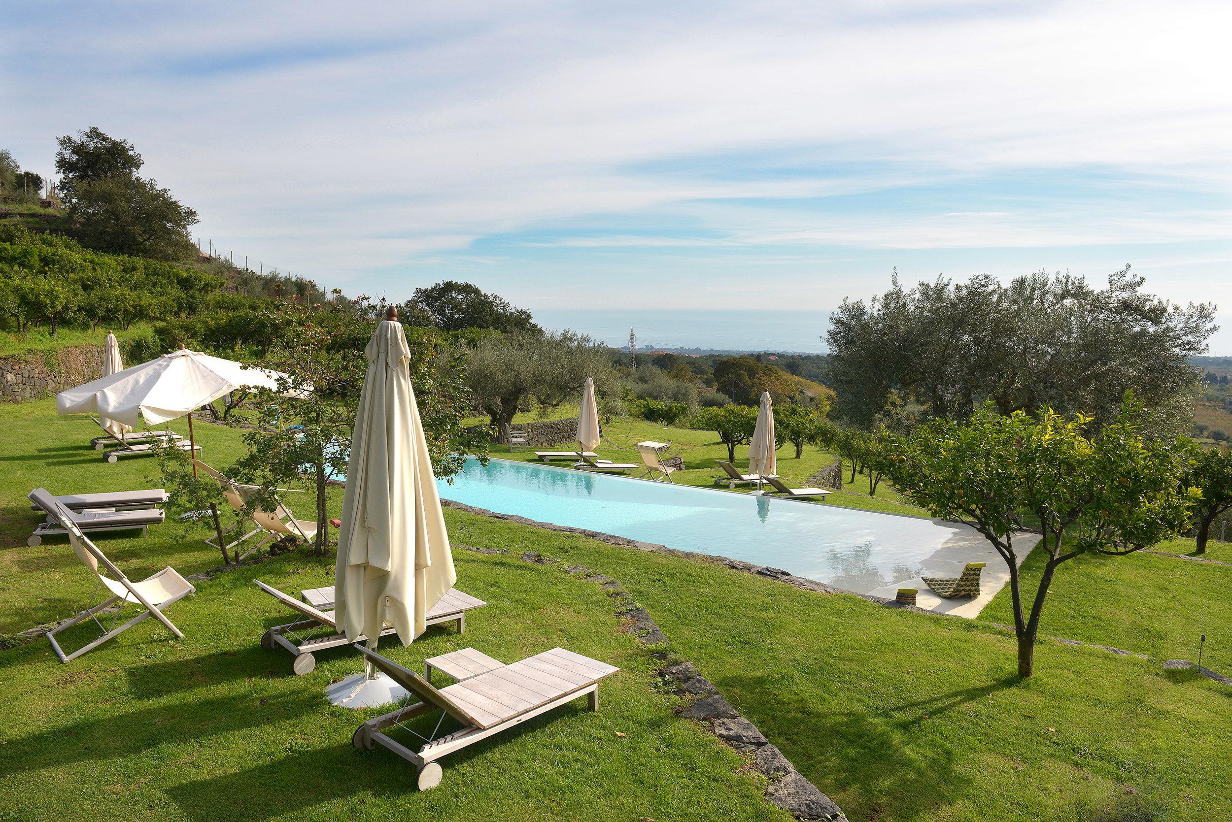Hotelli, Sisilia, uima-allas