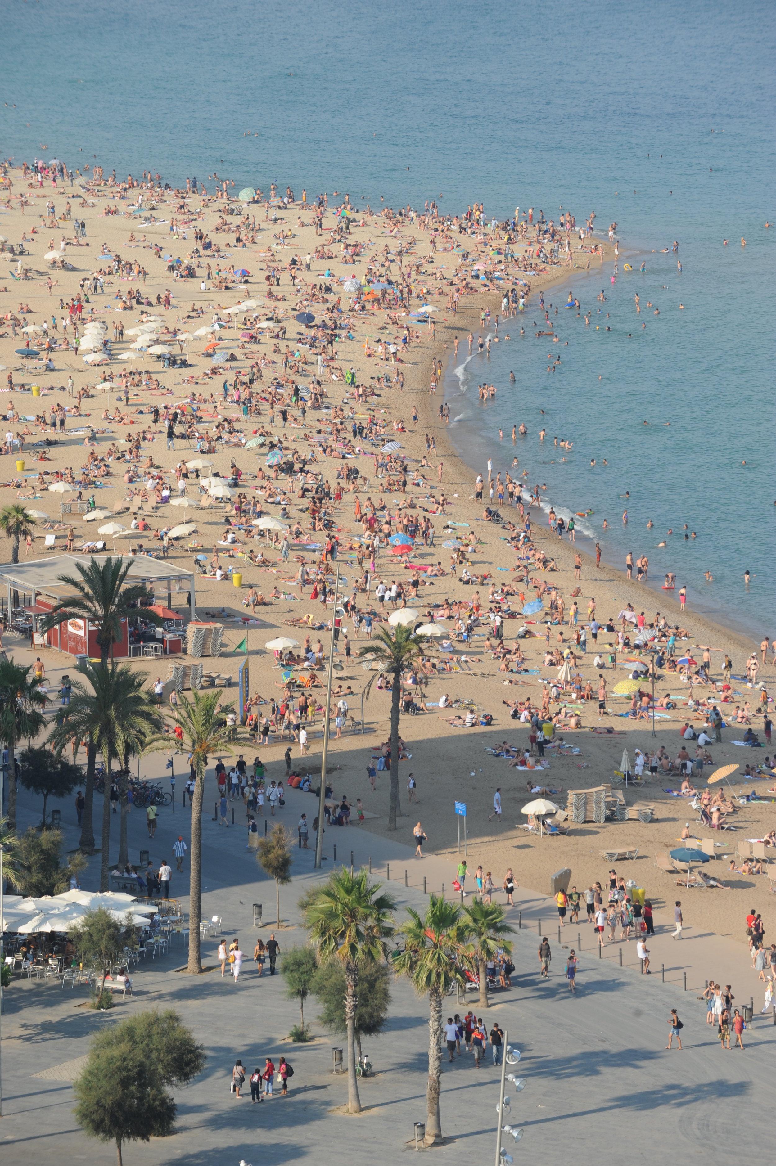 Barcelona, Barceloneta, hiekkaranta