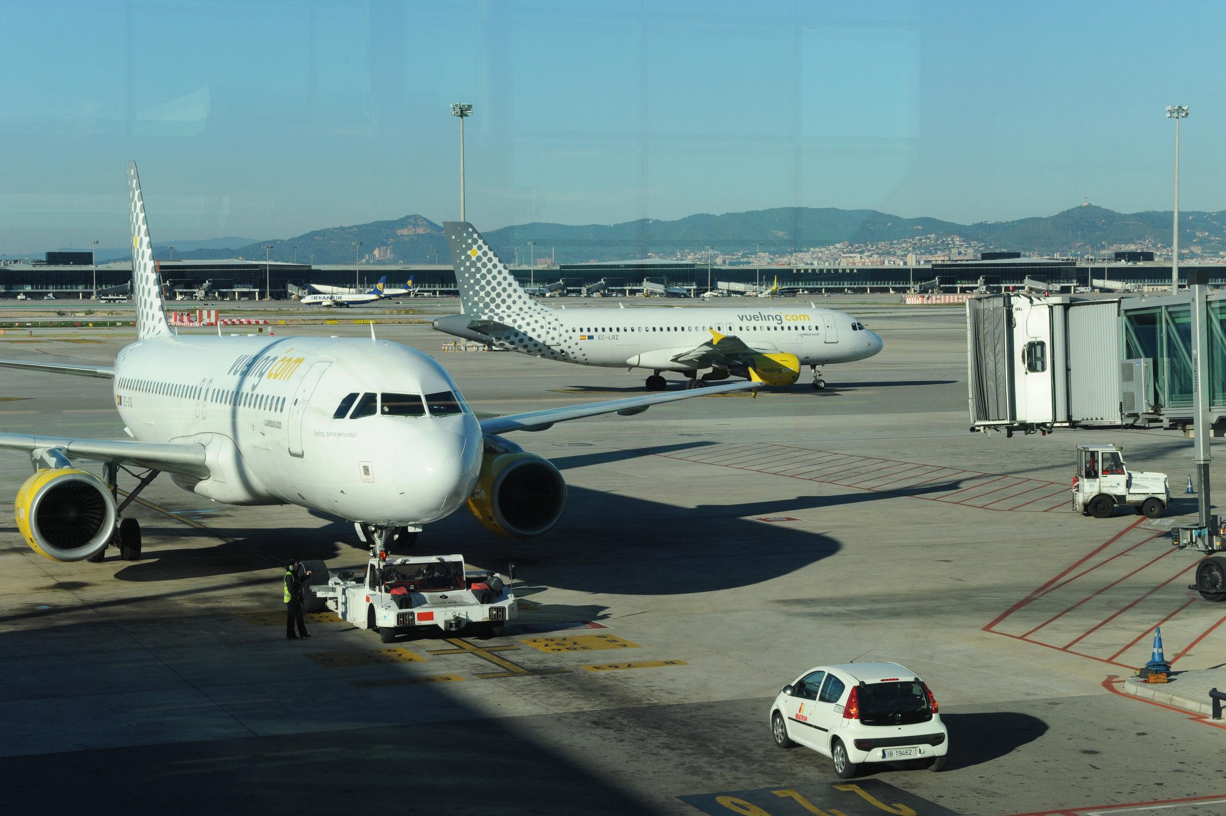 Barcelona, lentokenttä, lentokone