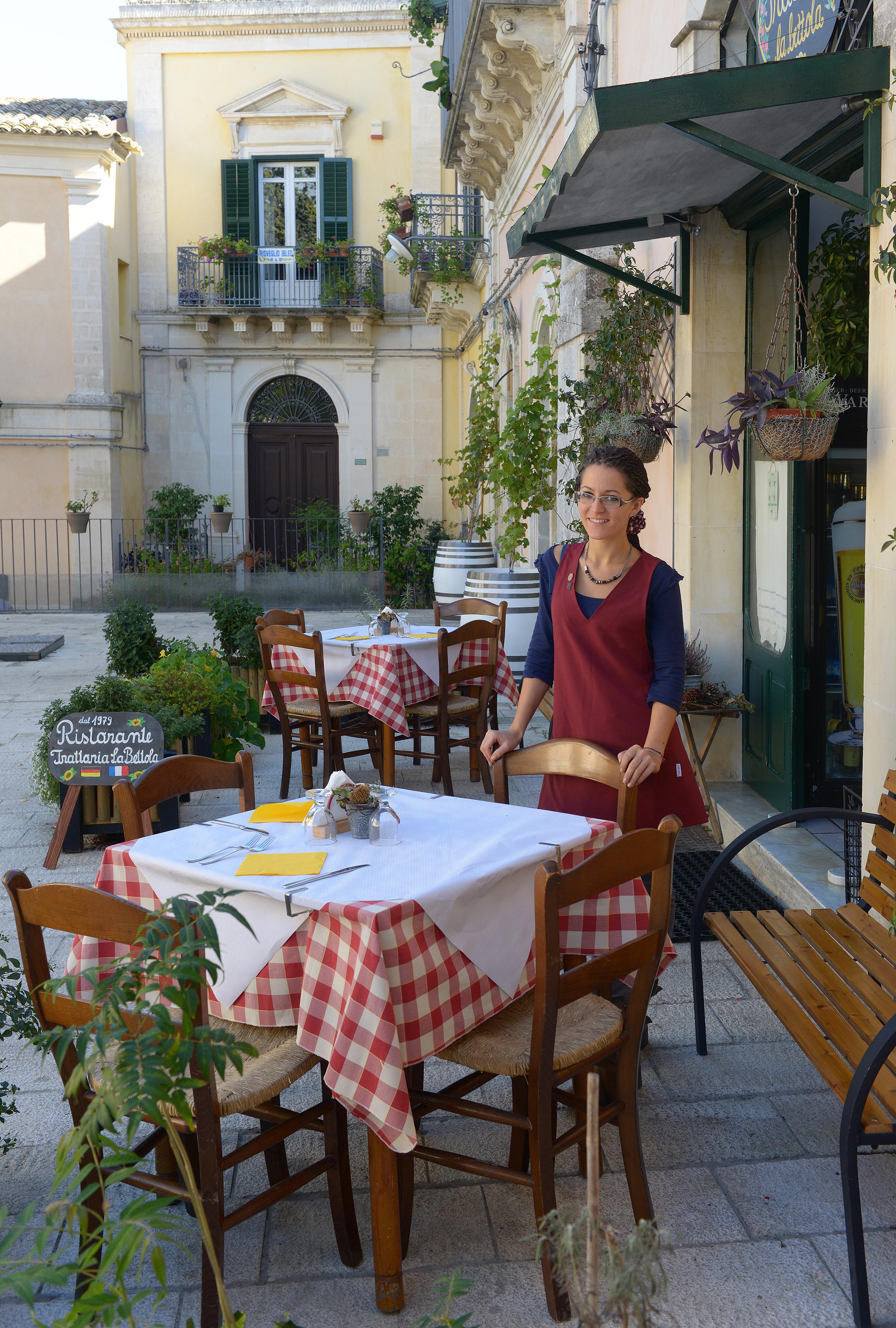 Sisilia, Ragusa, ravintola