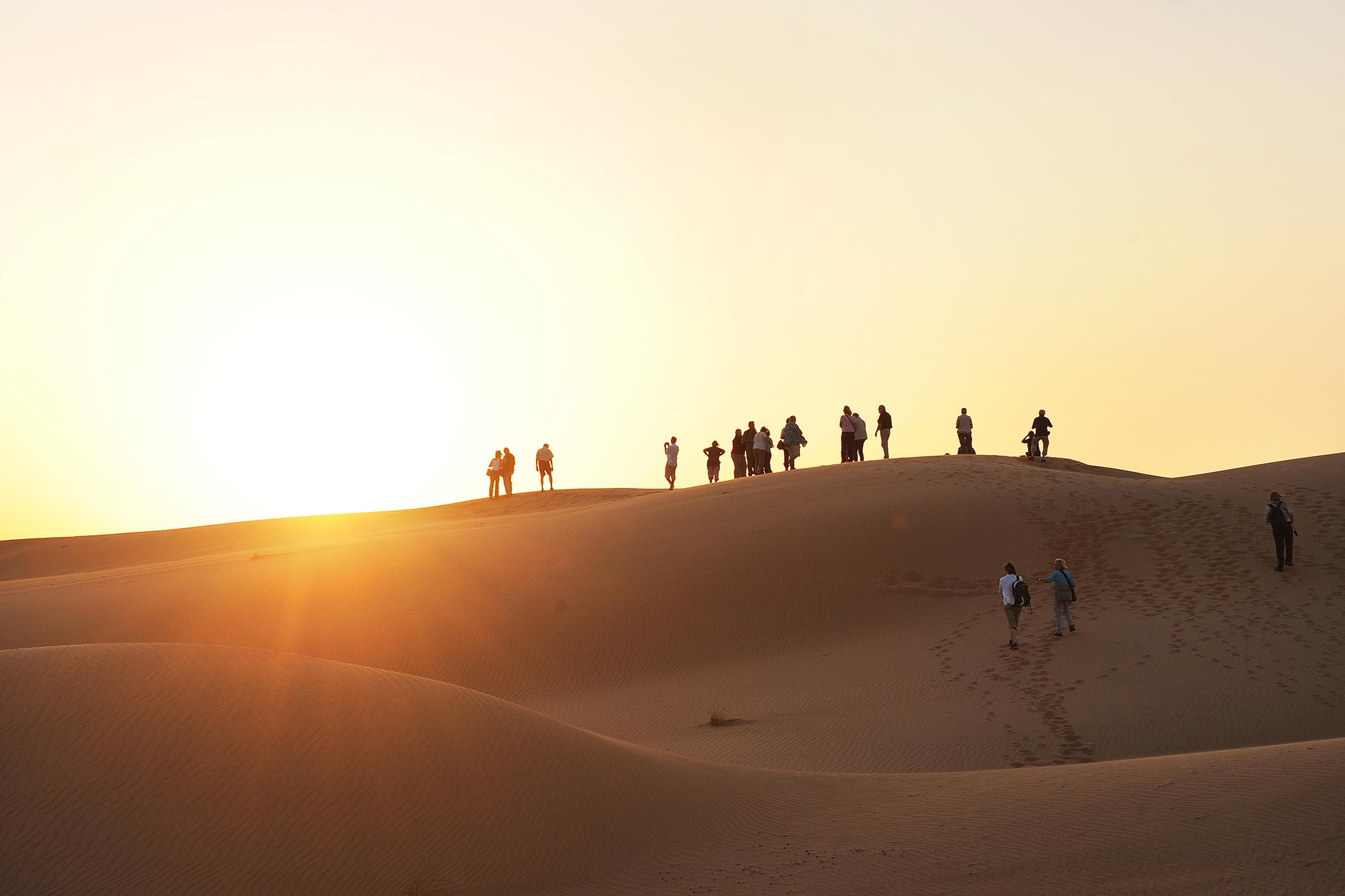 Oman, Wahiba Sands, autiomaa, hiekka-aavikko