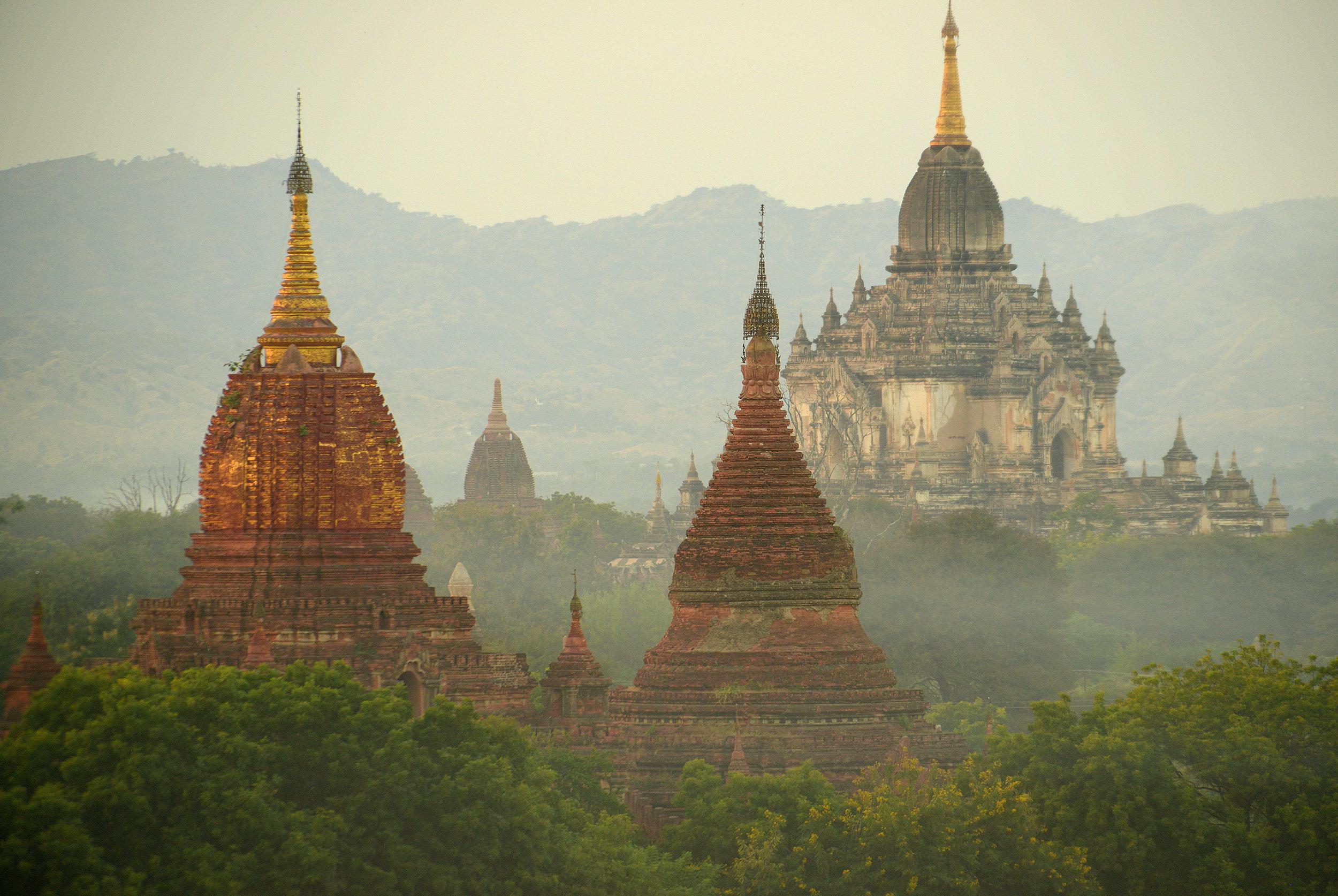 Auringonlasku, Myanmar