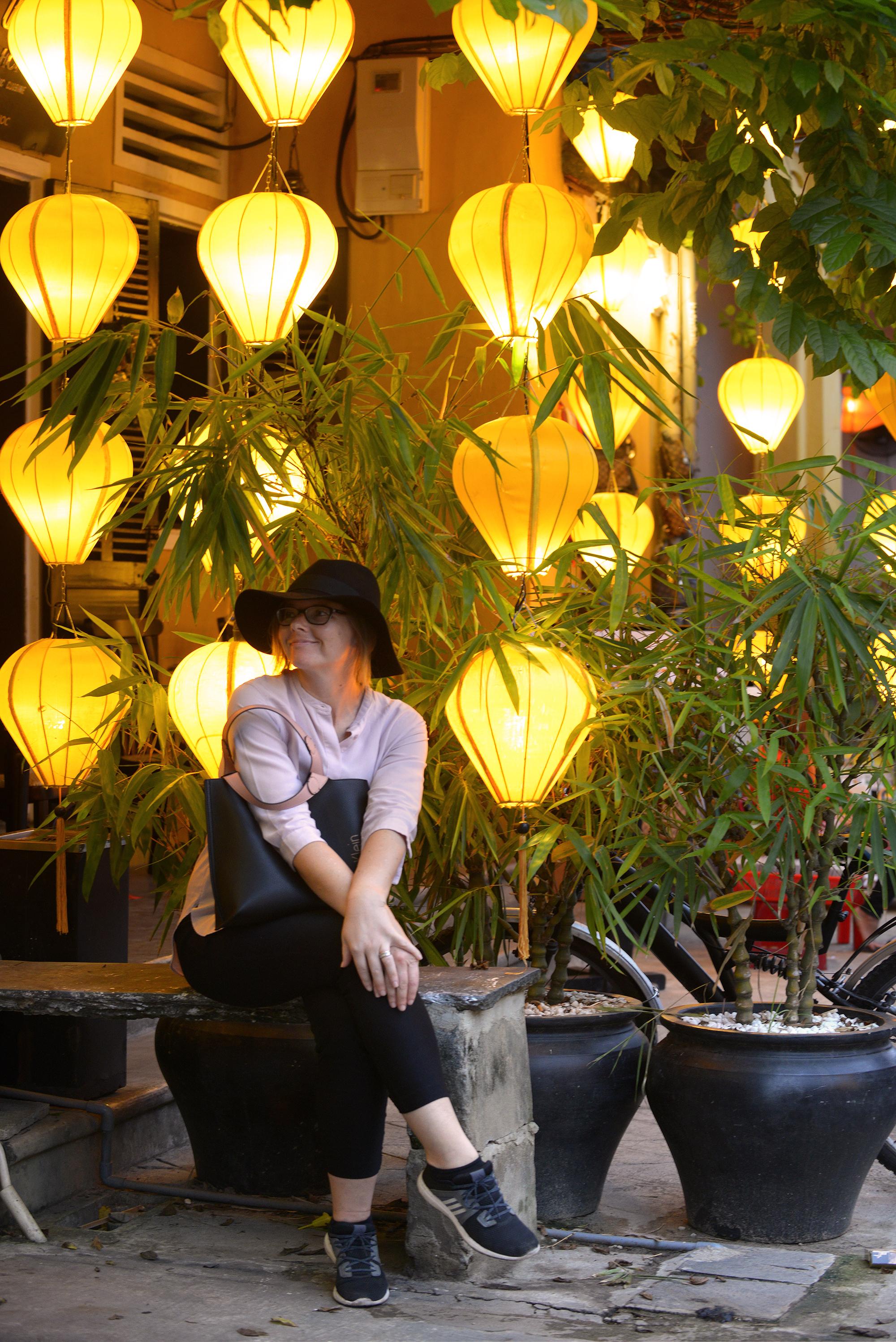 Hoi An, Vietnam. Nämähän ovat kuin jouluvaloja!