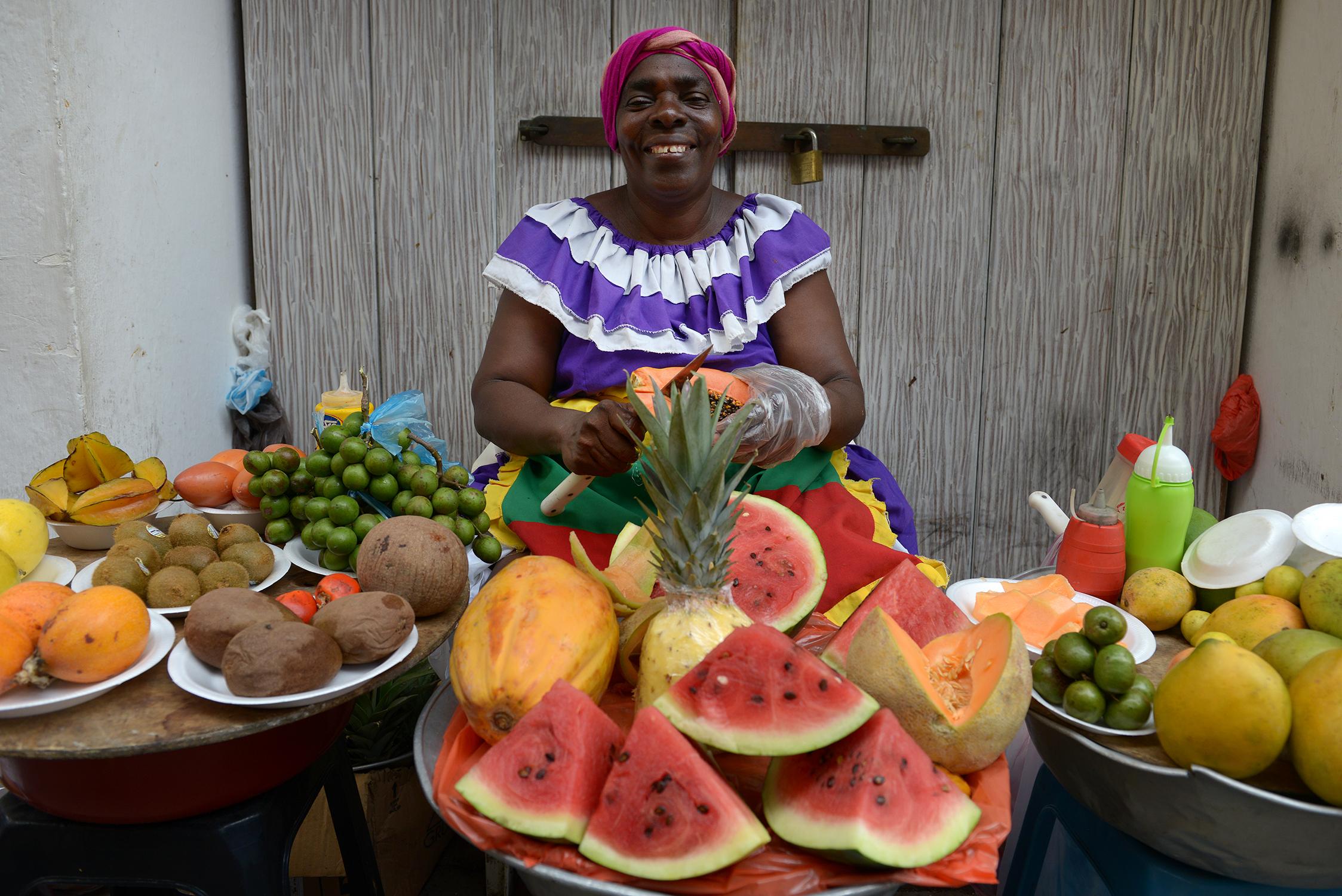 Cartagena de Indias, Cartagena, Kolumbia, hedelmät