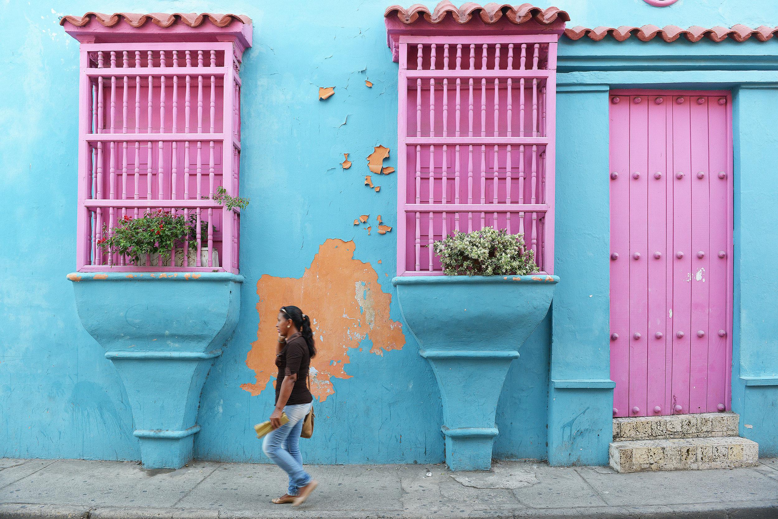 Cartagena, Kolombia, värit