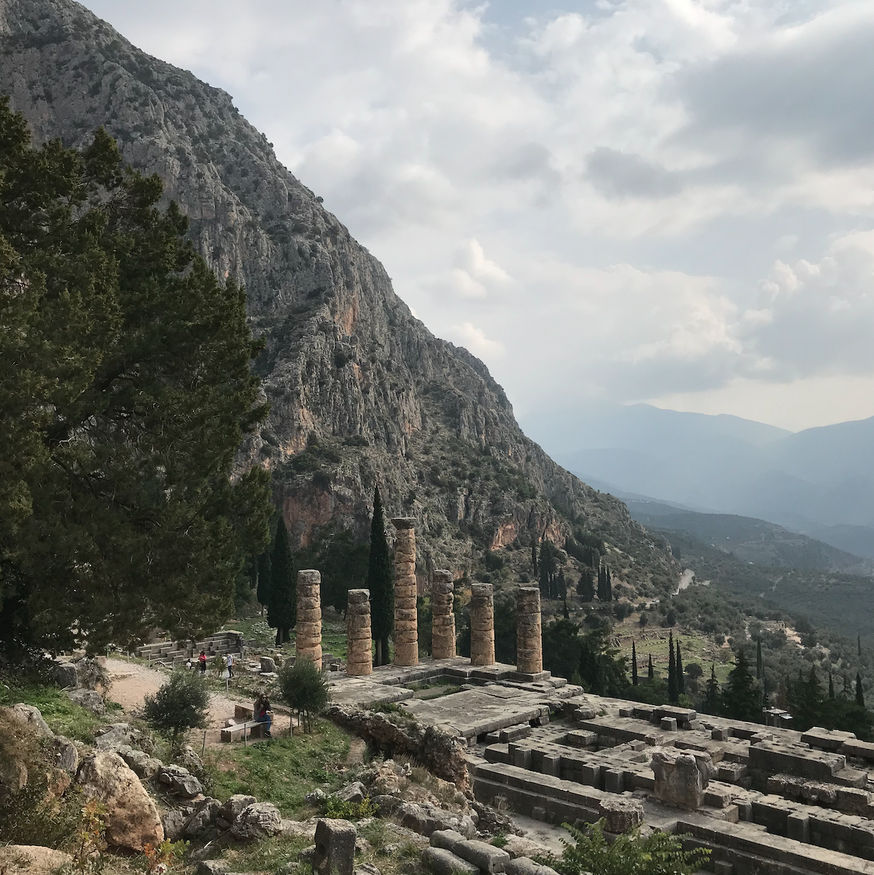 Ruins of the Temple of Apollo, Delphi (GR)