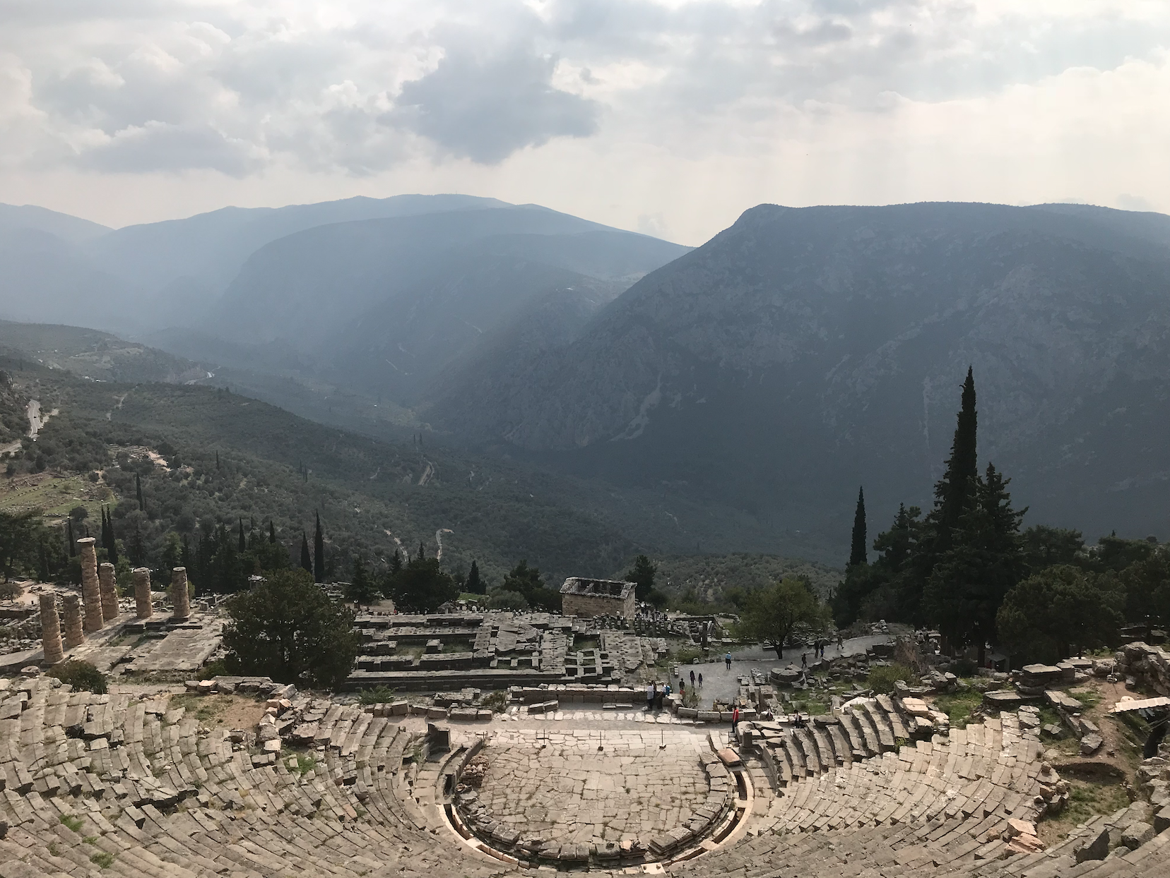 Ruins of the Theatre of Dionysus, Delphi (GR)