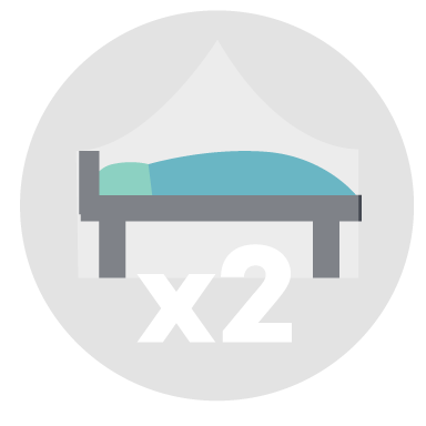 Have two extra beds / mattresses / hammocks with mosquito nets. You should be able to accommodate 2 travellers at a time.