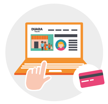 Duara Travels receives 30% of the payment to help maintain and develop the service. The remaining 10% goes to international money transfer costs, caused by paying each party separately..