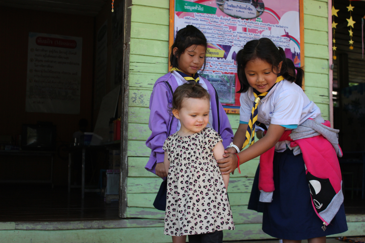 The daughter of Lauri and Duara co-founder Annika in Pong Nam Ron, Thailand