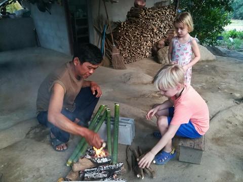 Iina's children in Tung Lakorn, Thailand