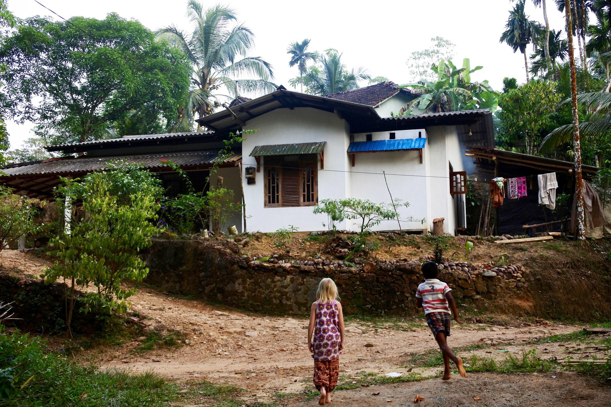 Katja's daughter in Neluwa, Sri Lanka