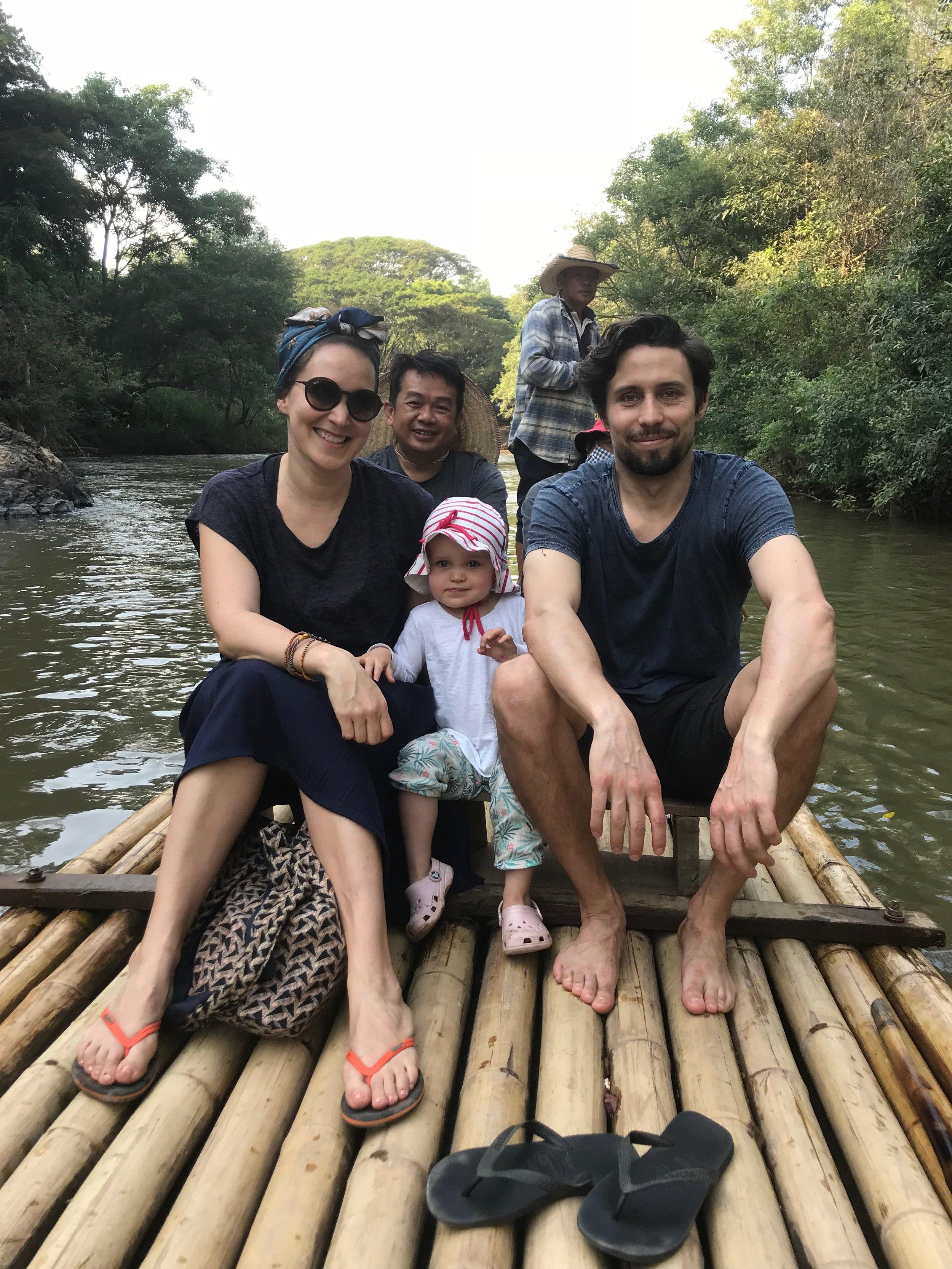 Annika, Lauri and their daughter in Tung Lakorn, Thailand.