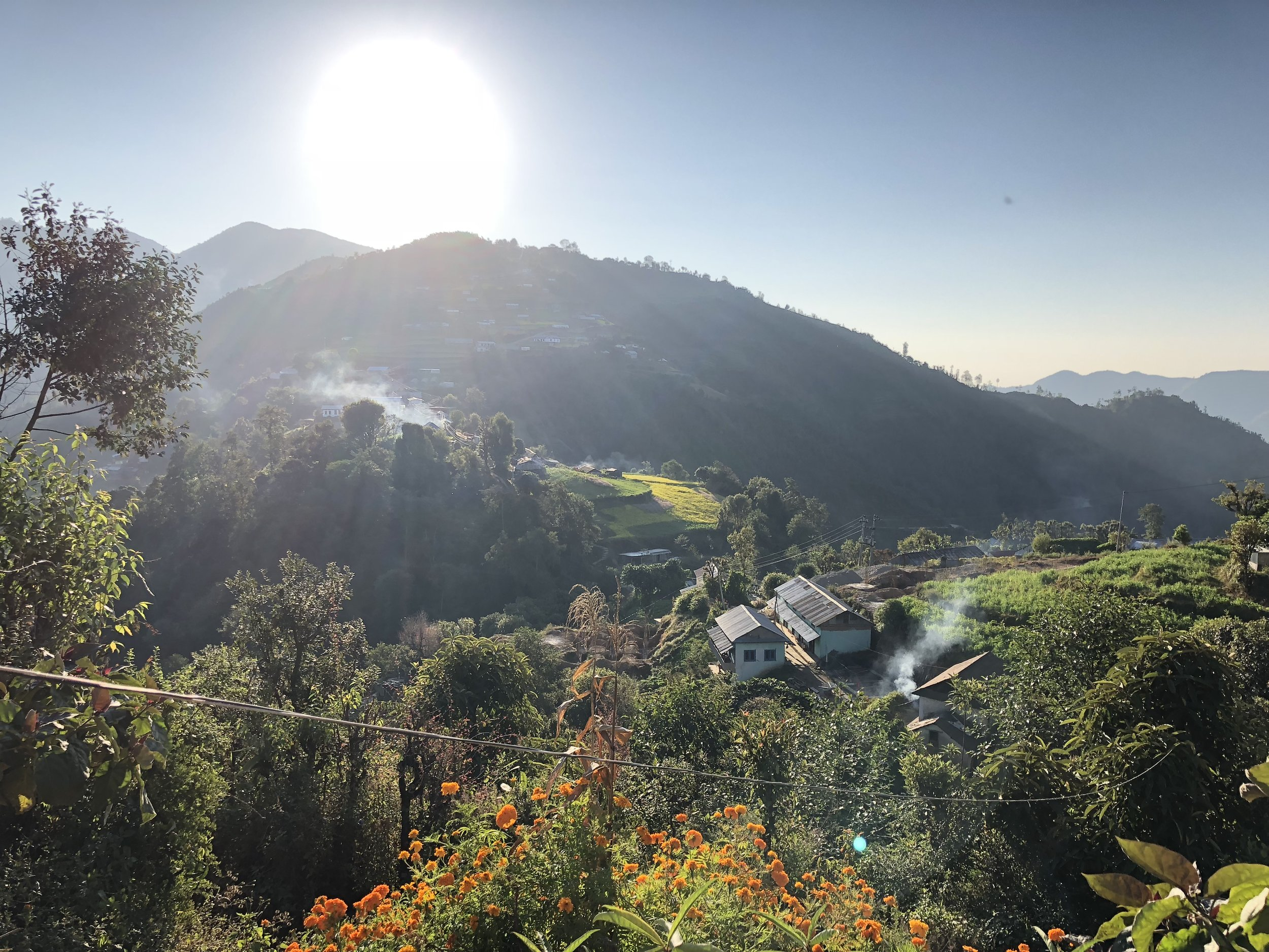 sunrise at manikhelnepal kathmandu valley nepal trekking weather homestay.jpg